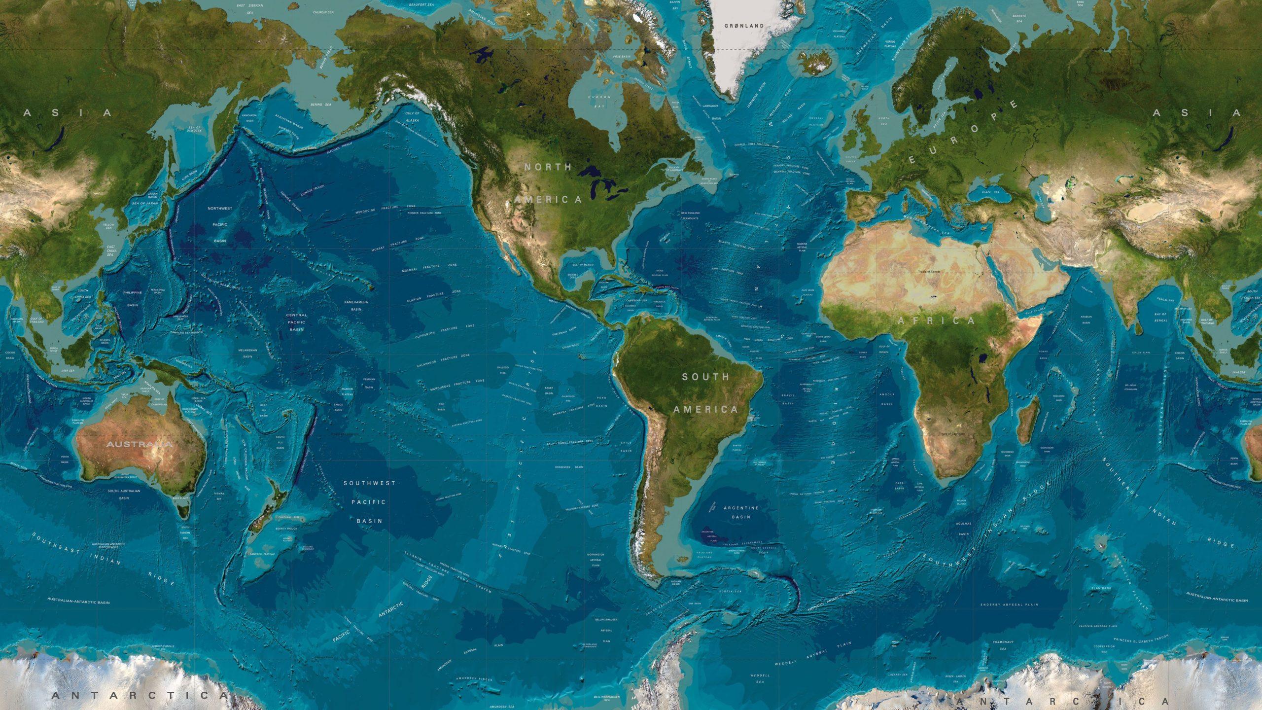 world map wallpapers murals
