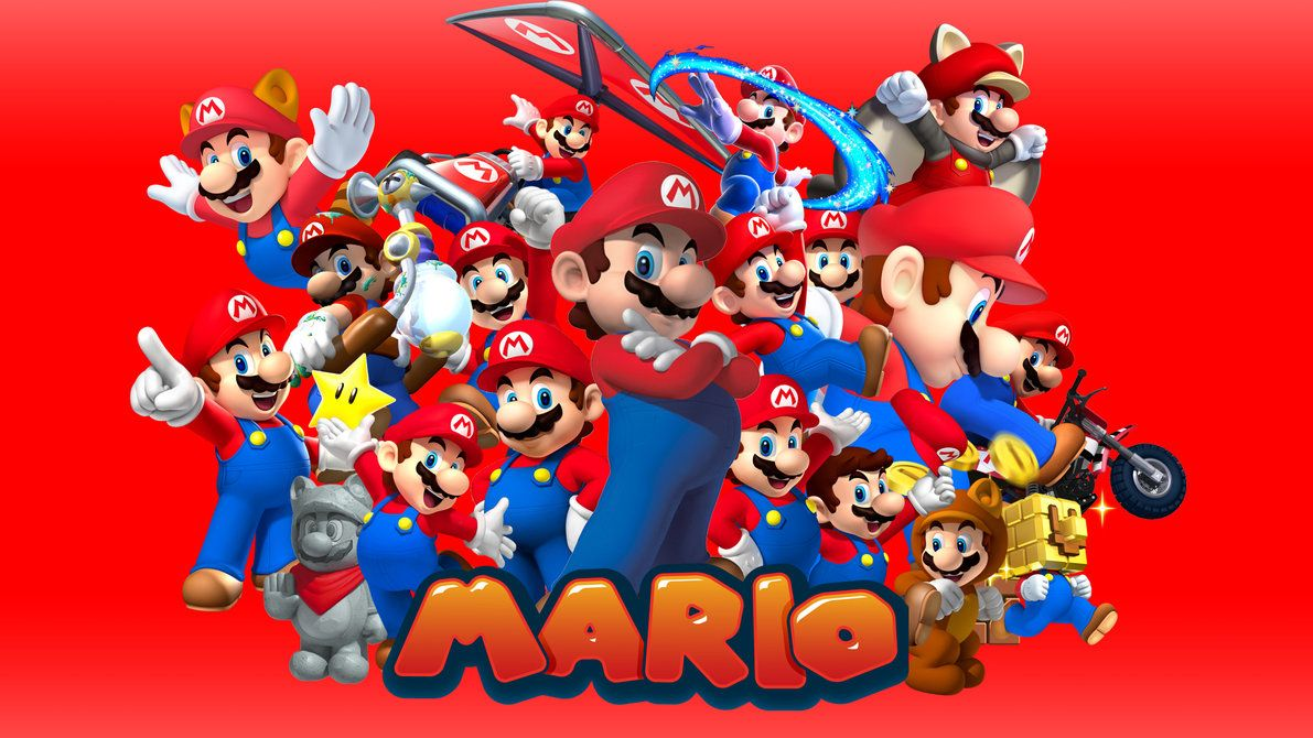 mario brothers wall paper
