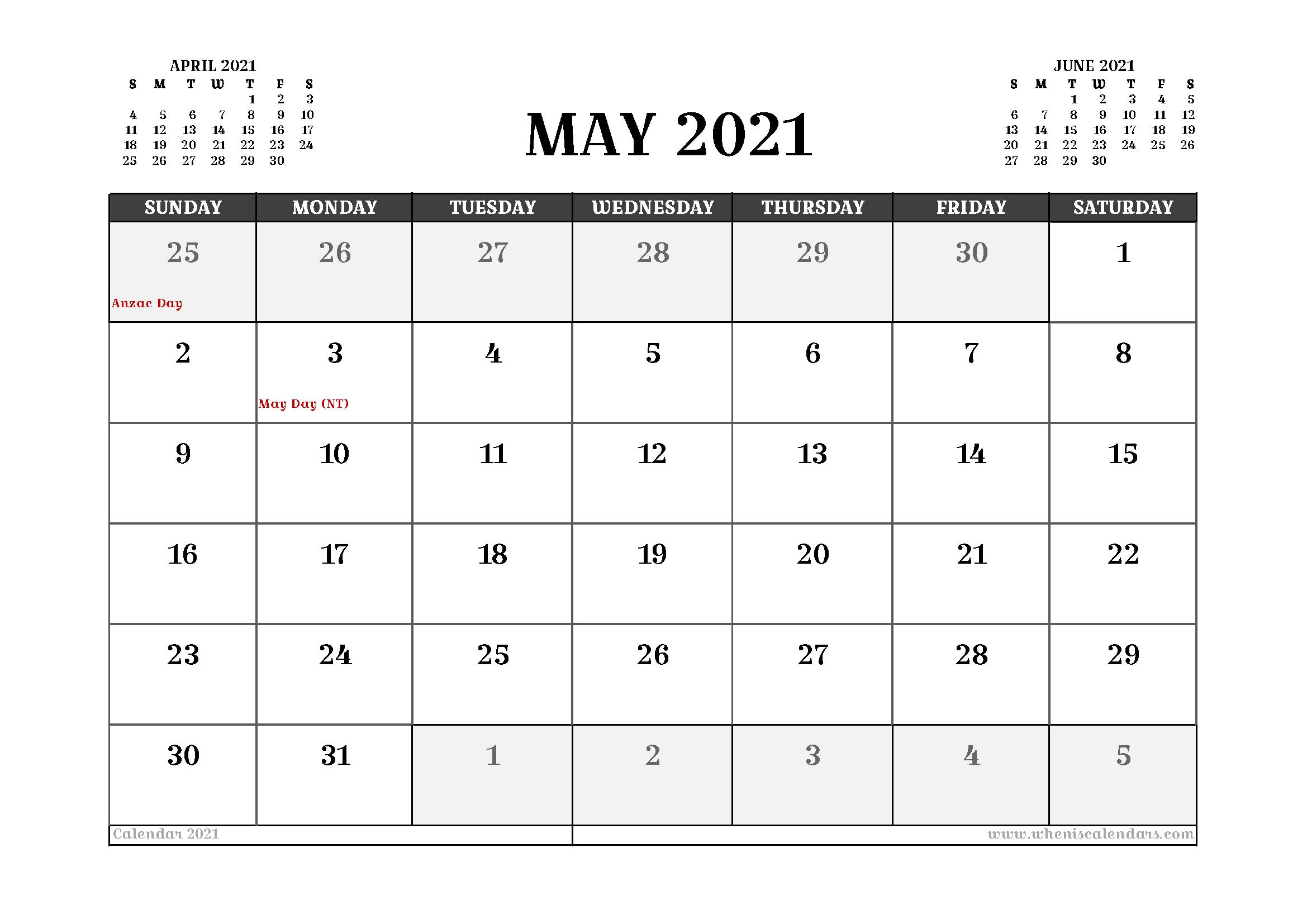 may 2021 calendar aesthetic