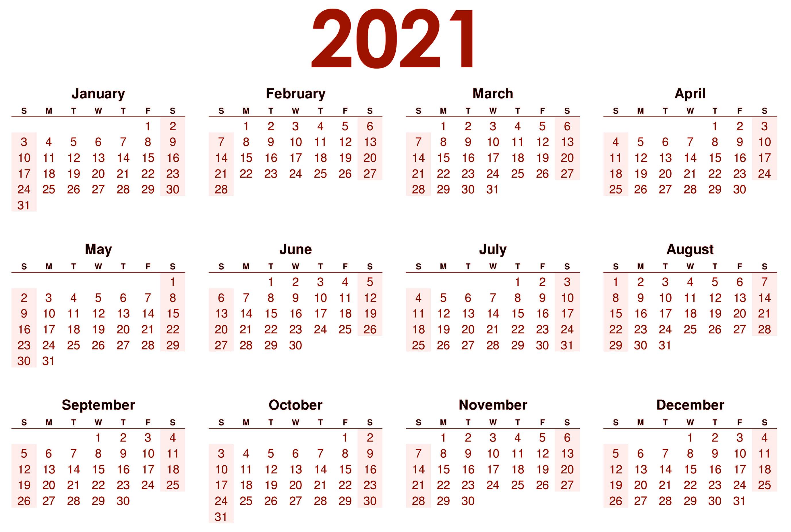 how to make a 2021 calendar