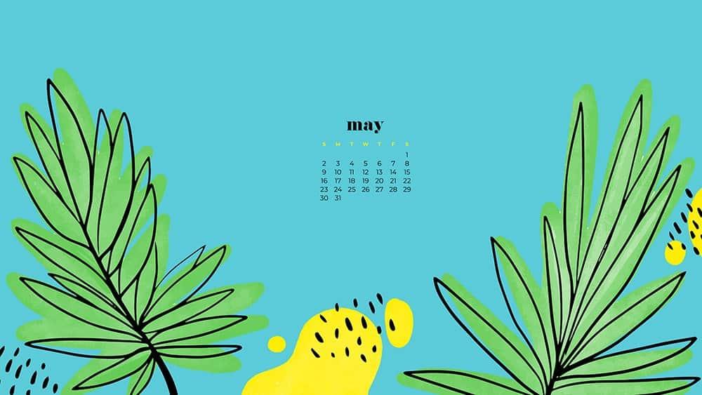 May 2021 Calendar Wallpaper 4k