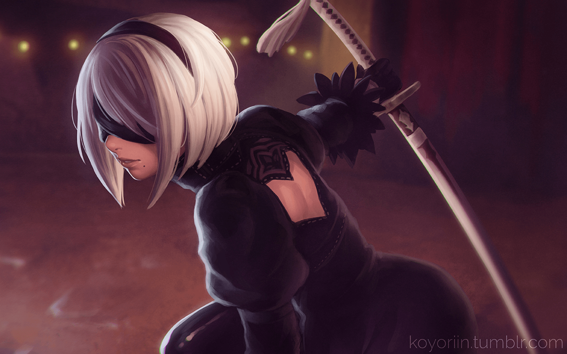 nier automata background