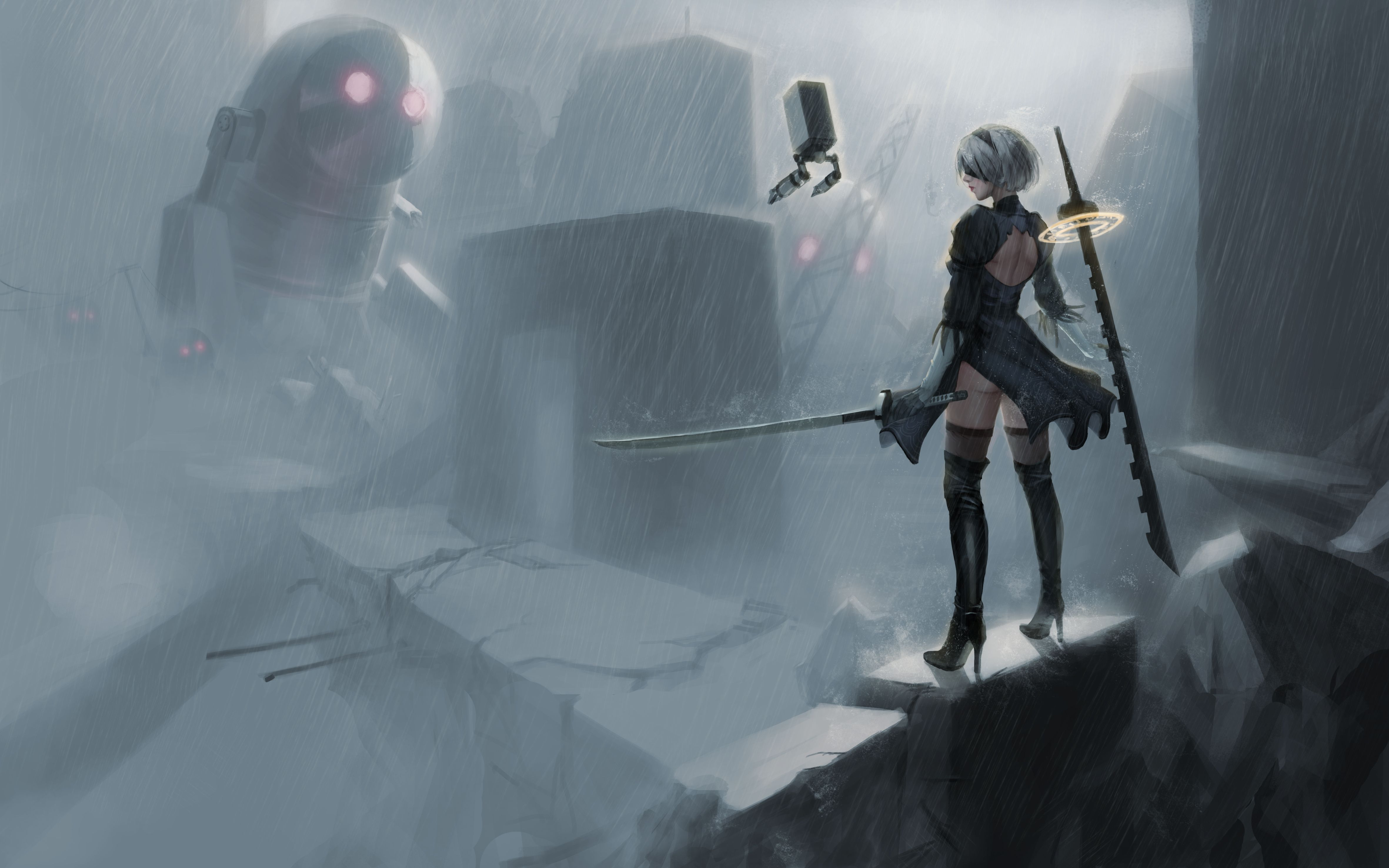 nier automata wallpaper 9s