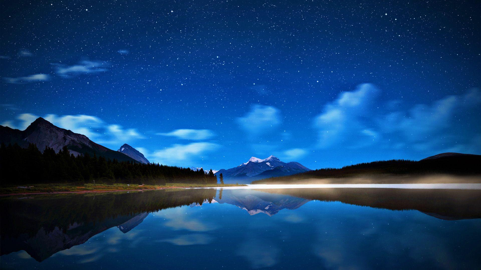 black starry sky