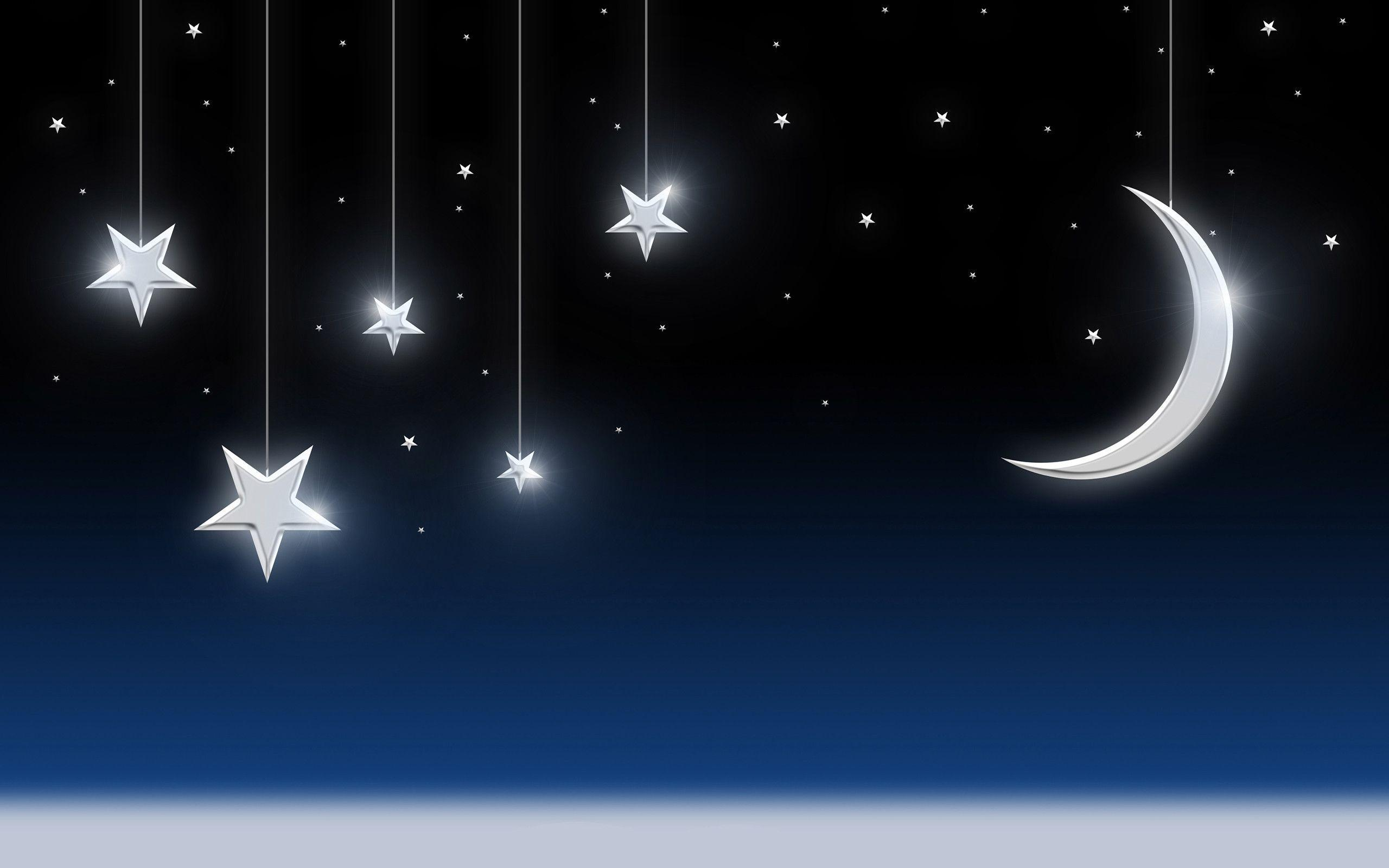 night sky desktop background