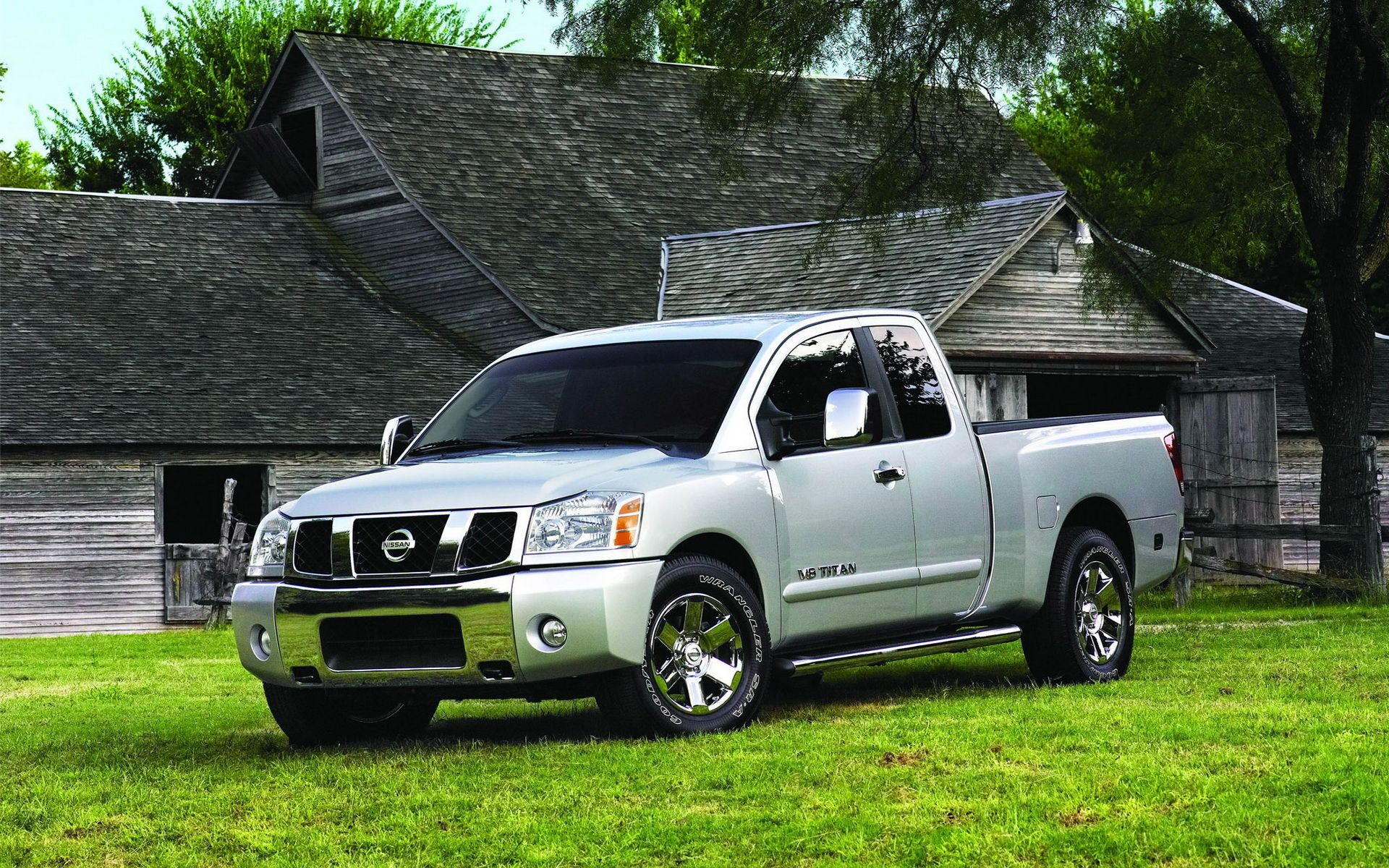 titan wallpapers, grey nissan titan