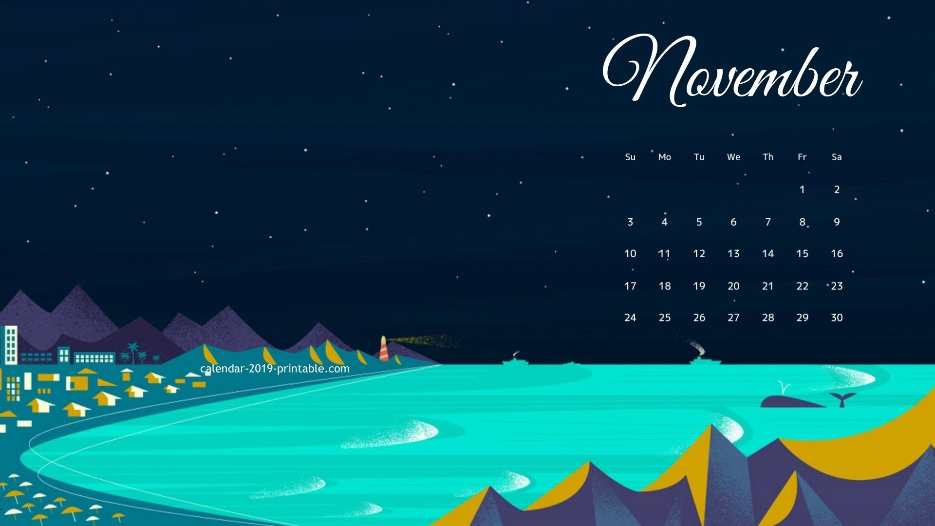 november 2019 desktop wallpaper