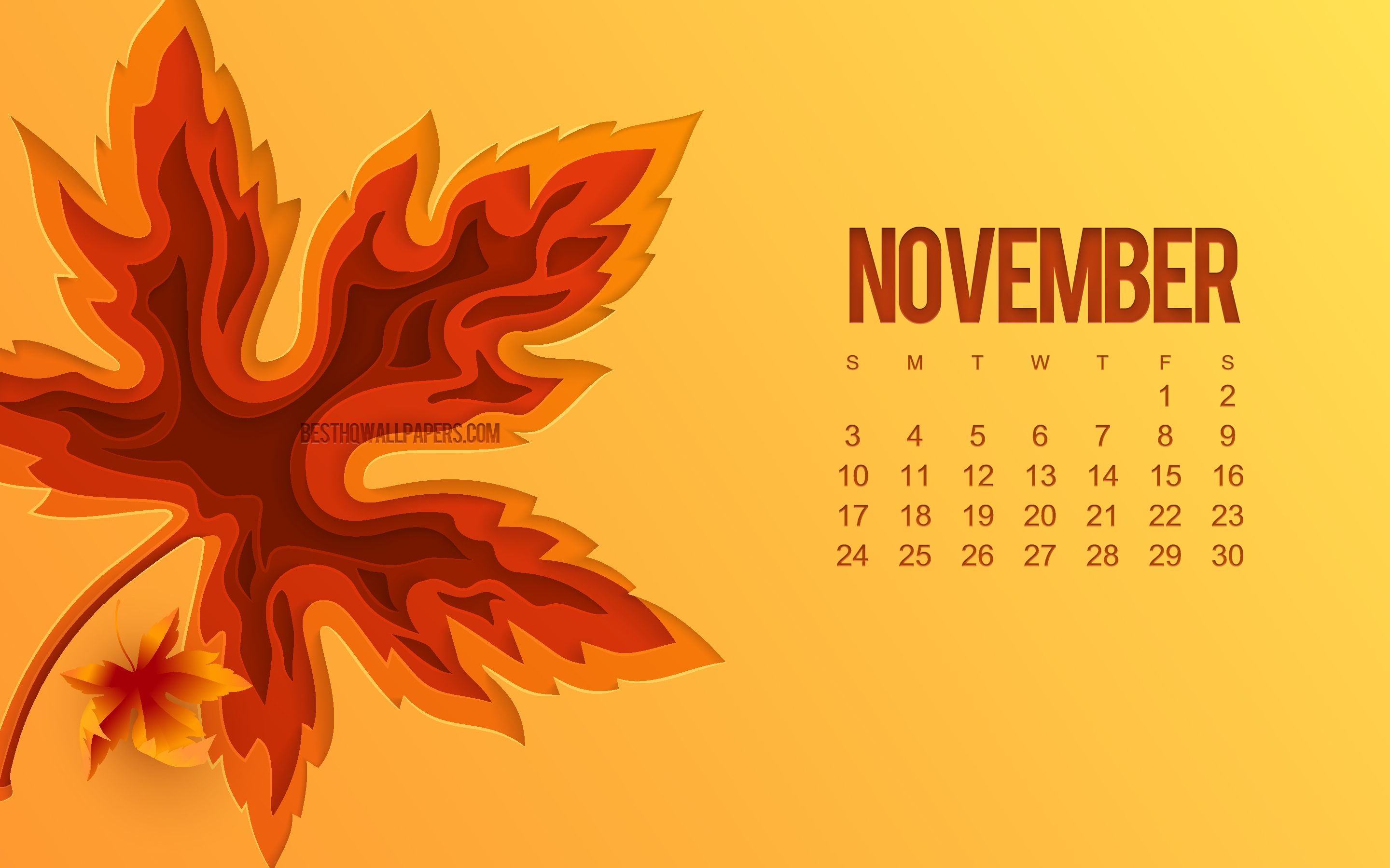 november wallpaper desktop