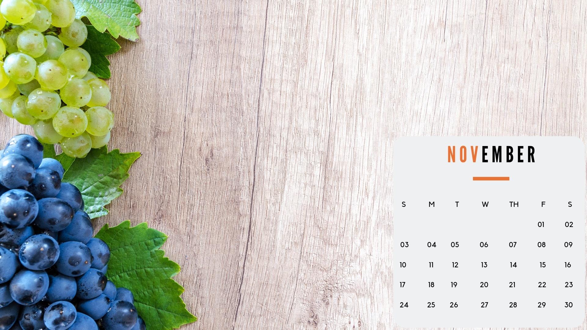 november wallpaper calendar