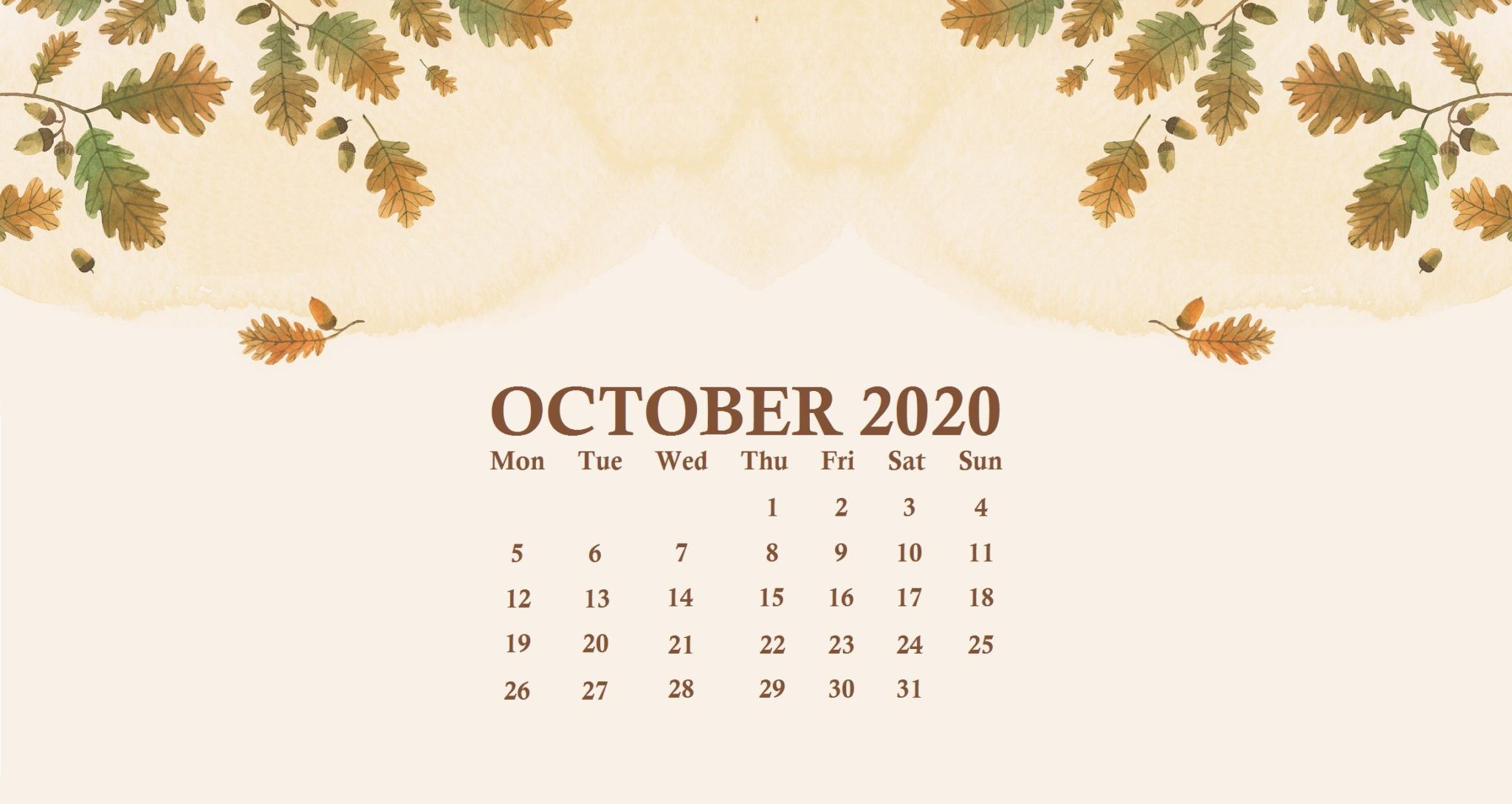 october wallpaper 2020