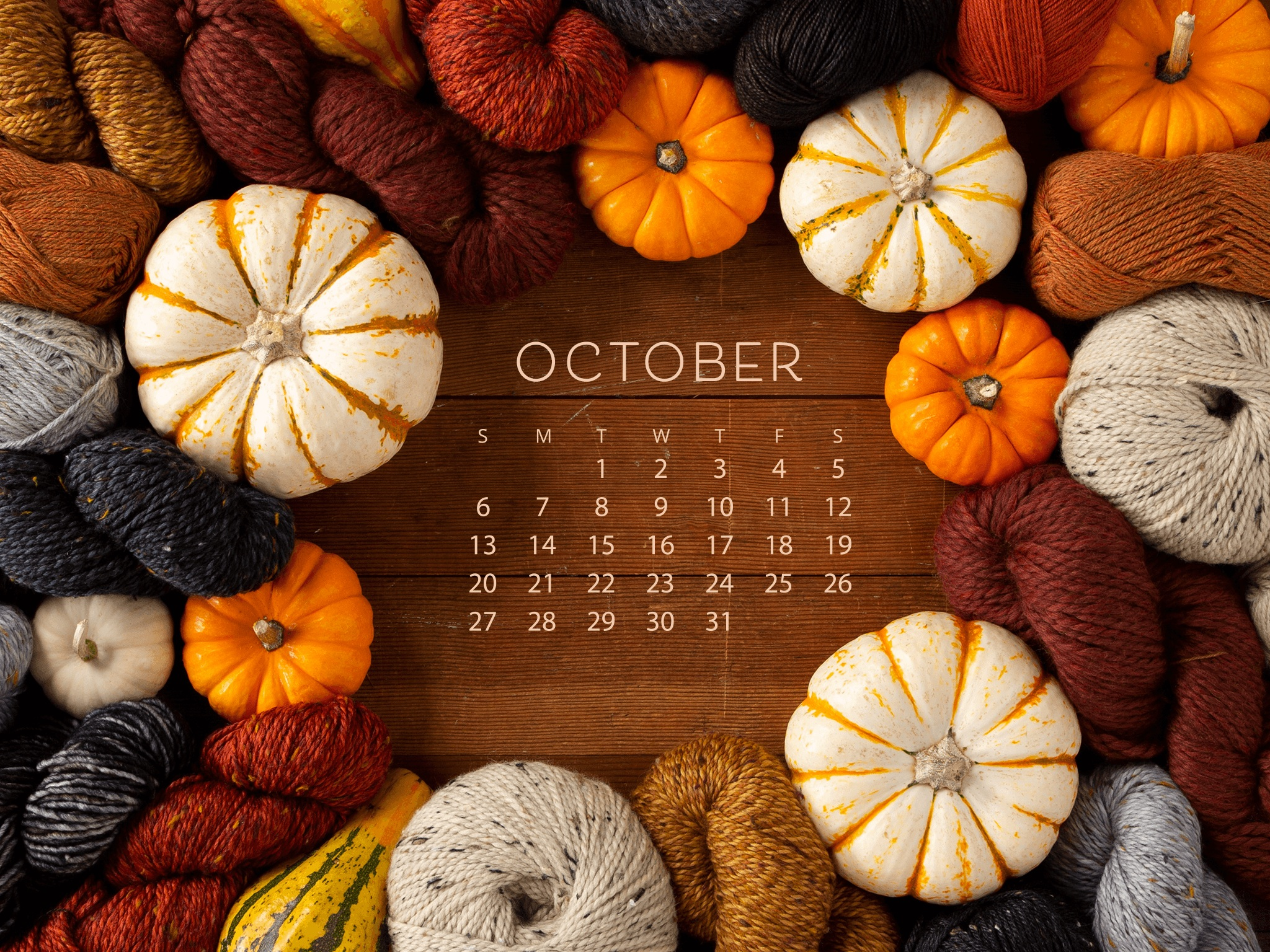 october calendar wallpaper free