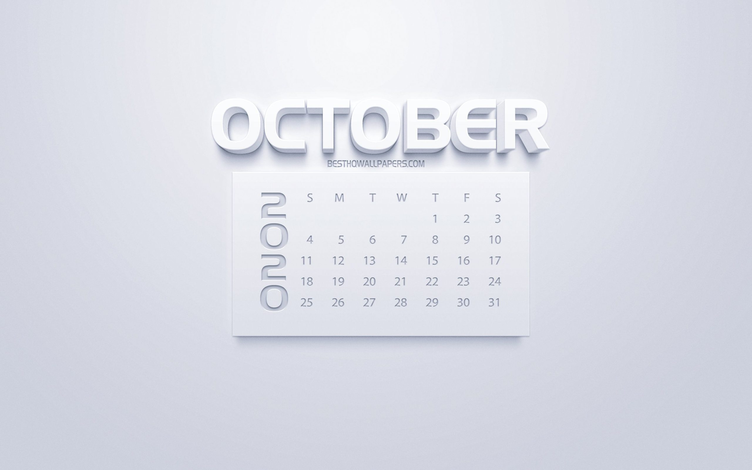 october calendar desktop wallpaper