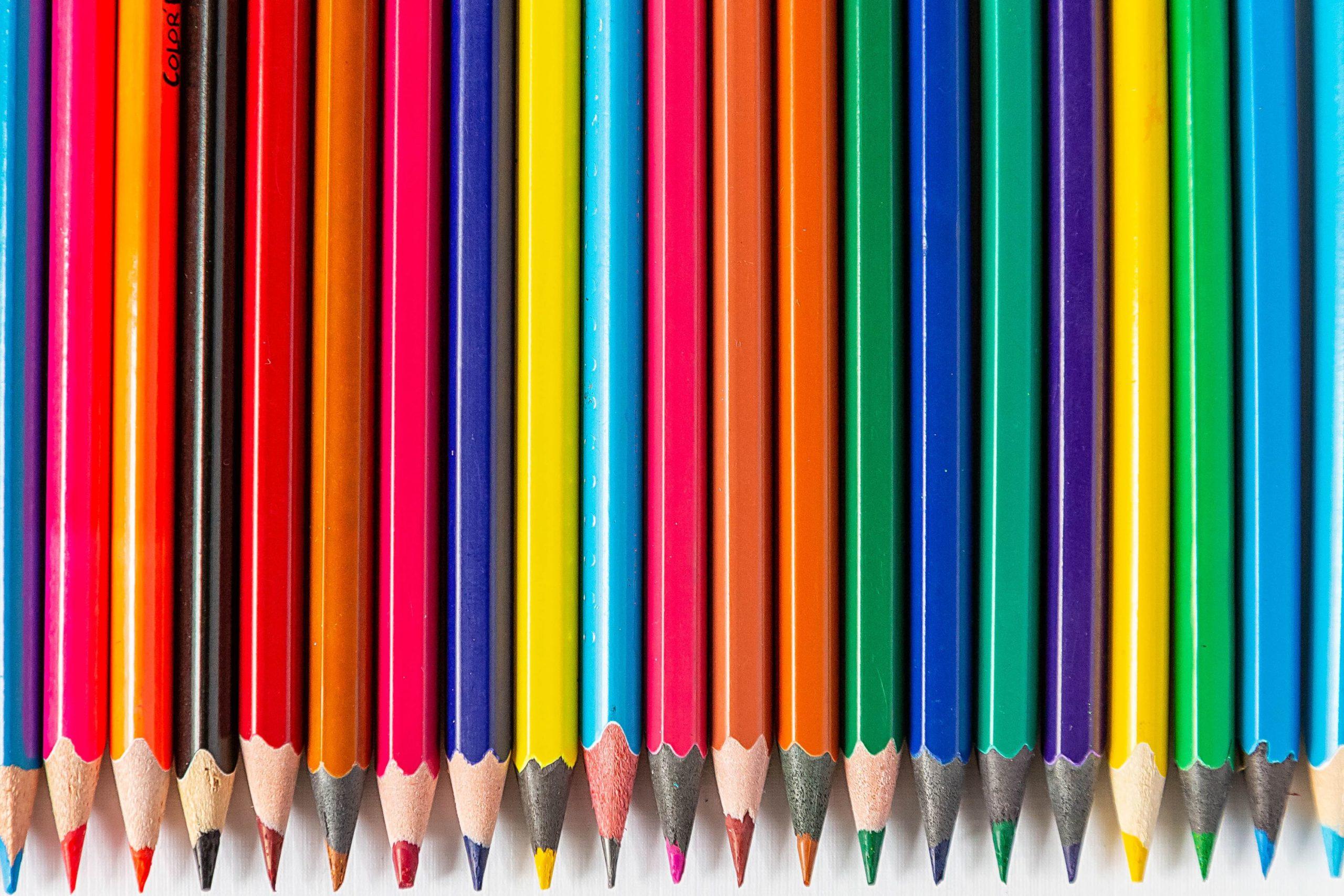 hd color pencils wallpaper