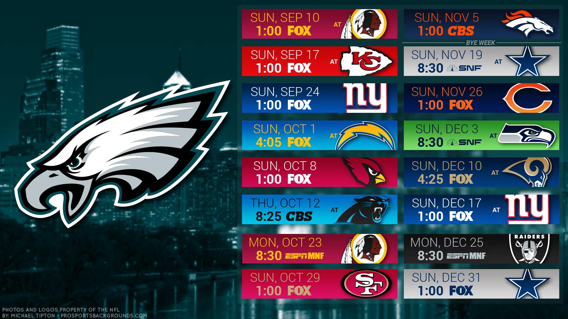eagles schedule wallpaper