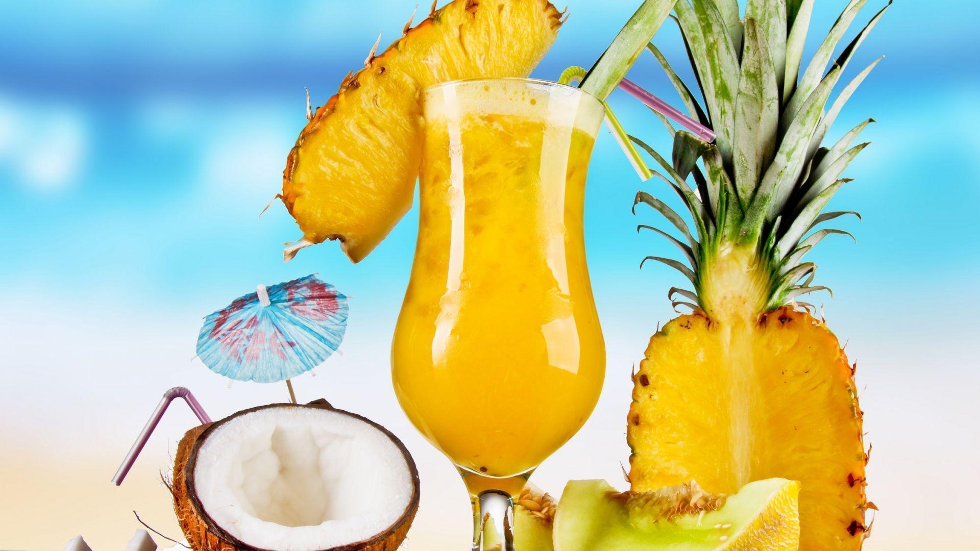 cute pineapple juice wallpapers