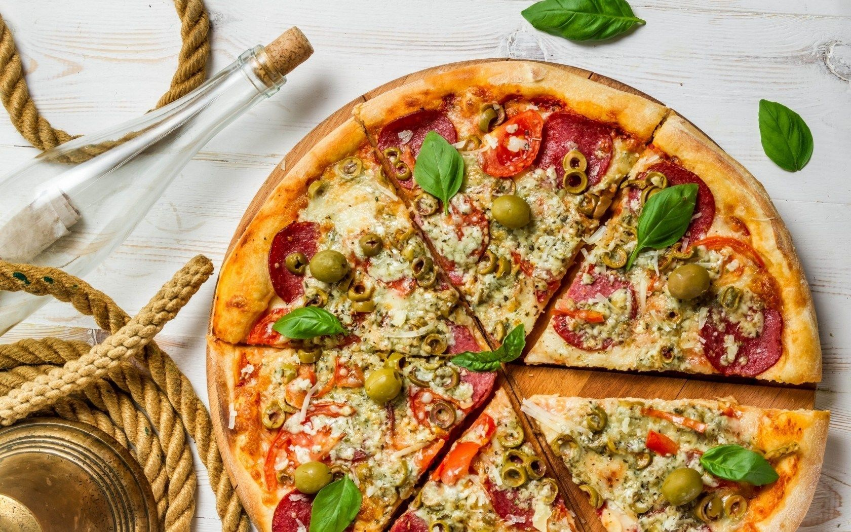pizza hd wallpaper