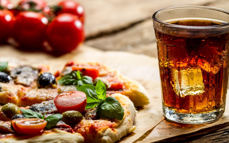 pizza and coca cola