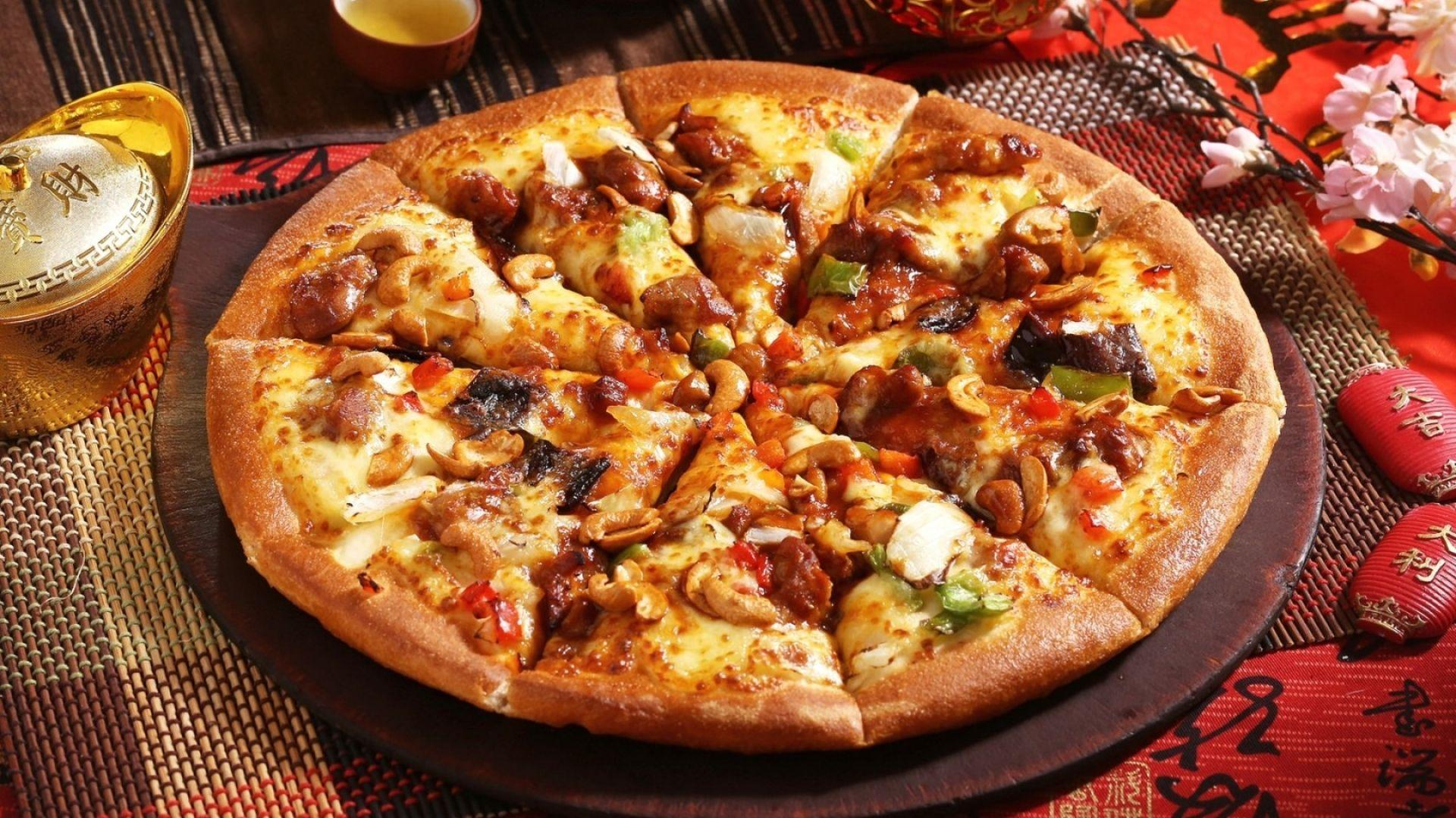 pizza top view png
