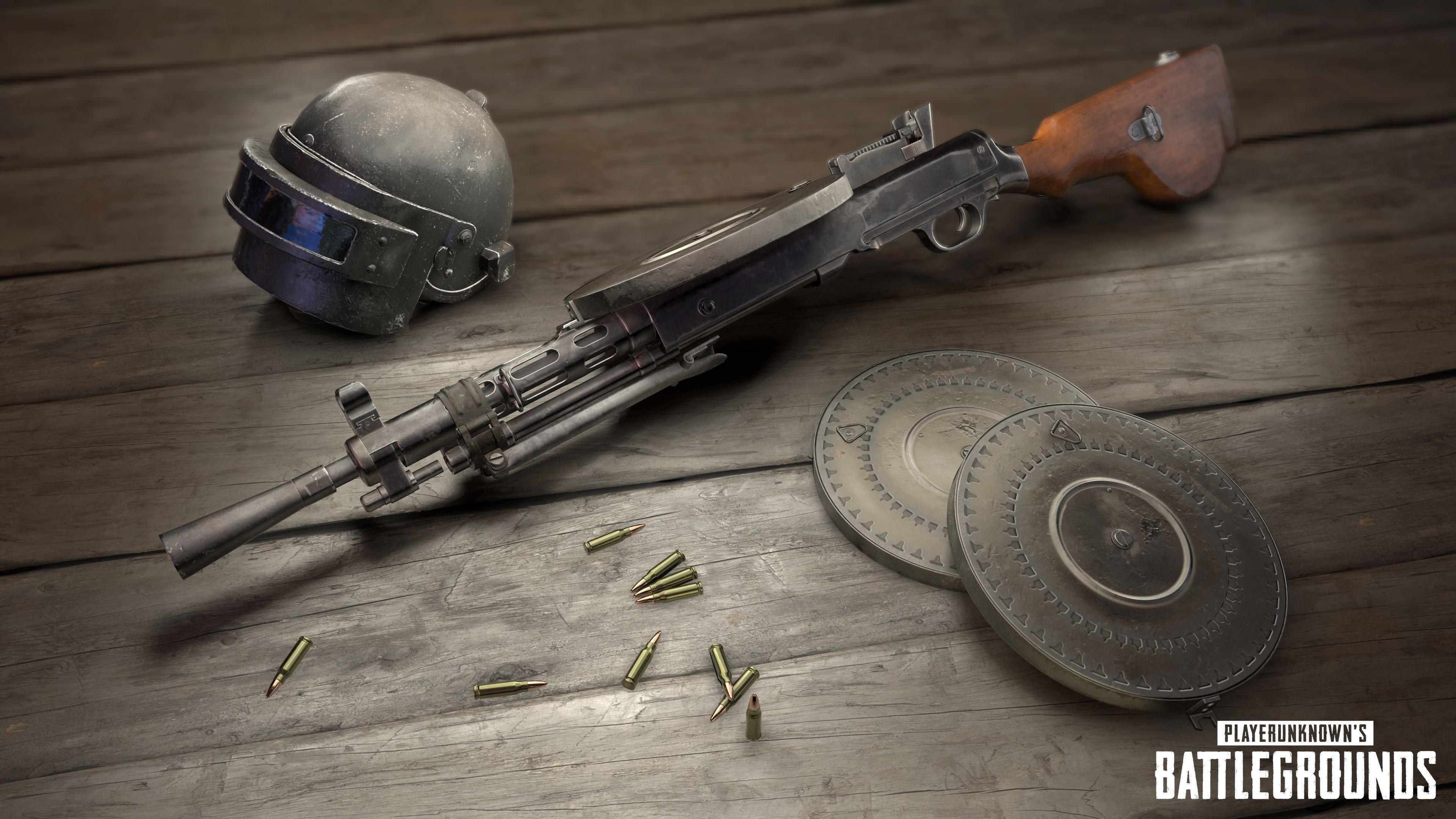 pubg gun dp-28, pubg hd wallpaper, player unknown battlegrounds 4k