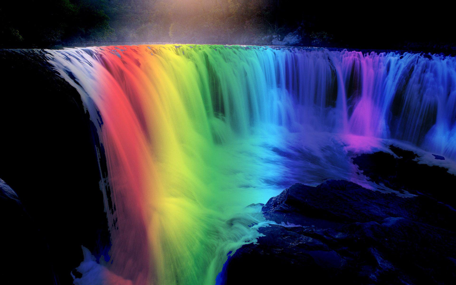 rainbow hd background