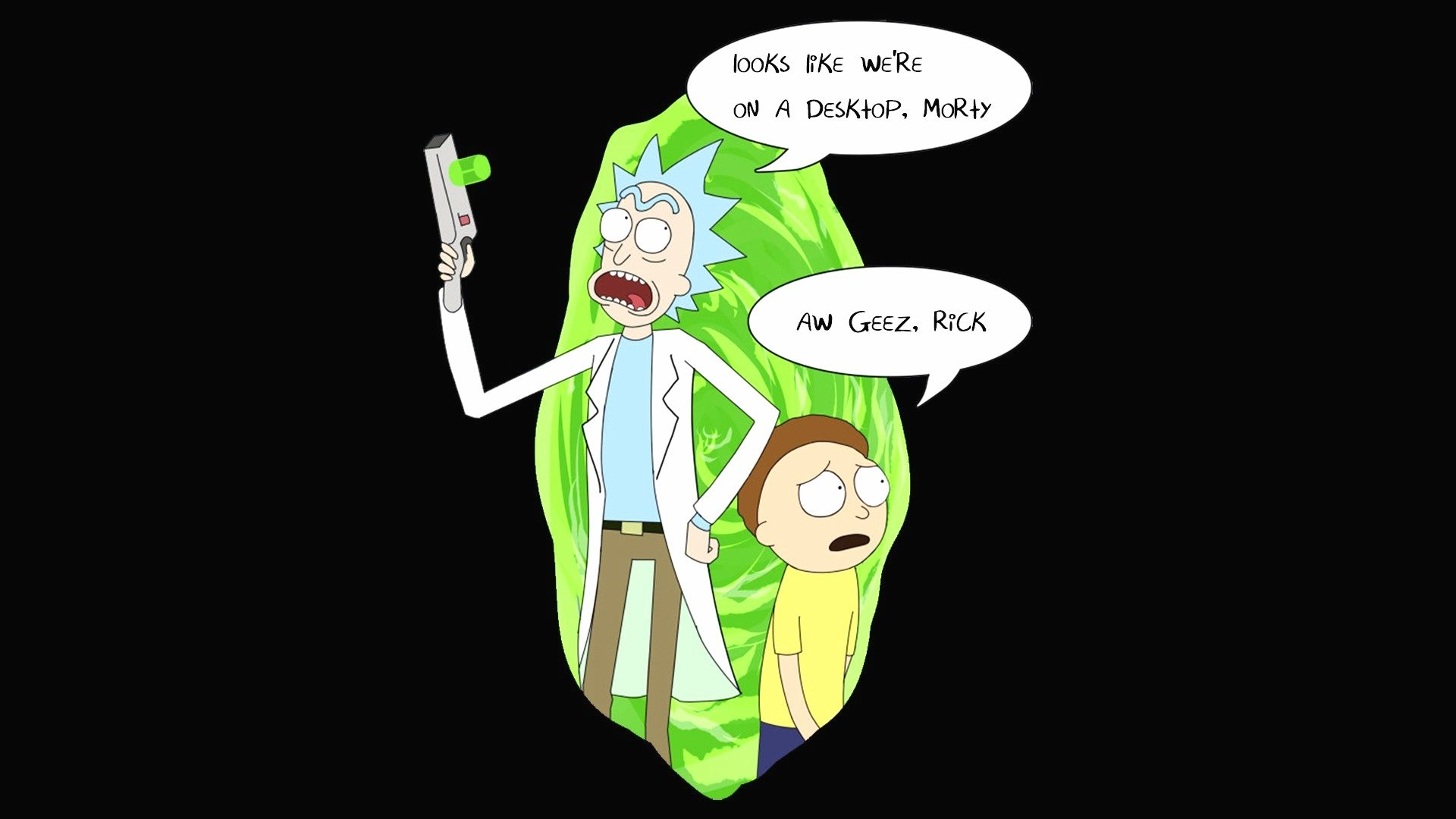trippy rick and morty wallpaper