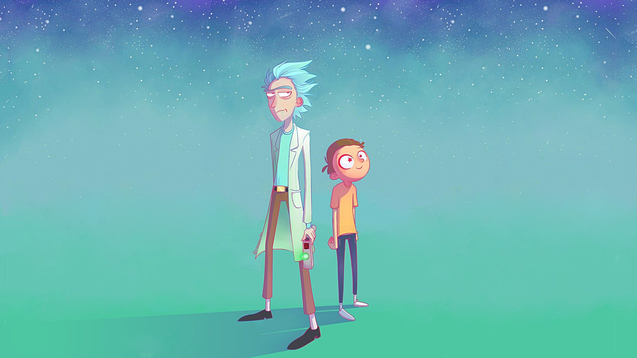 rick and morty wallpaper trippy