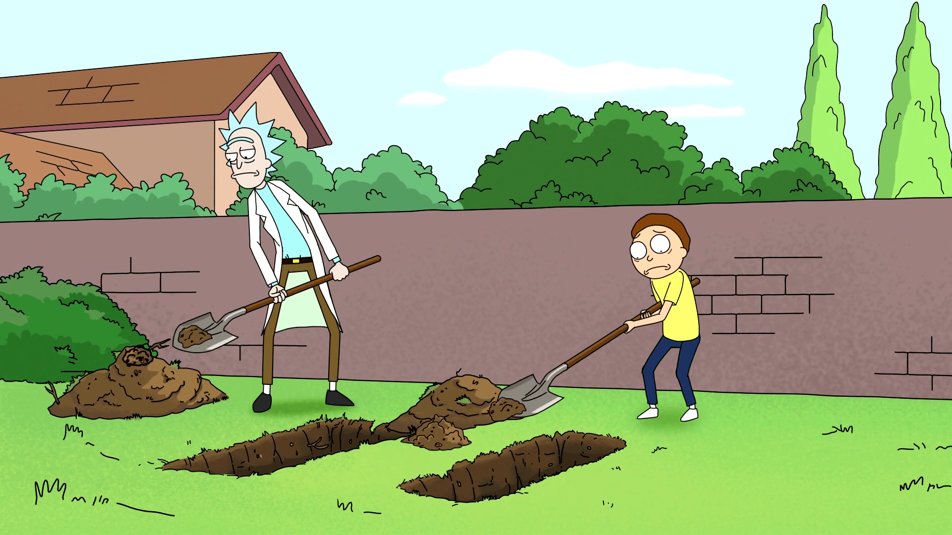 rick and morty background, rick and morty wallpaper 1080p