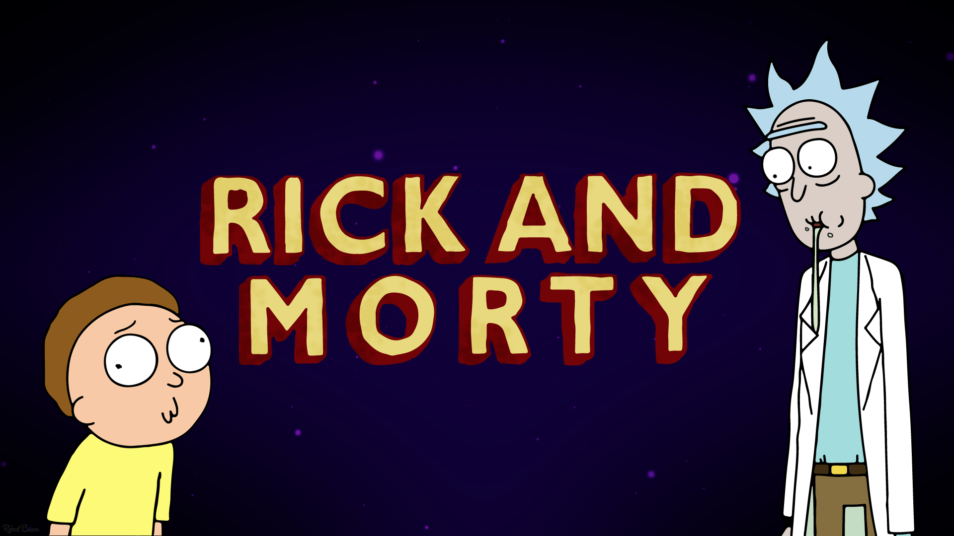 rick and morty mac wallpaper, rick and morty space wallpaper