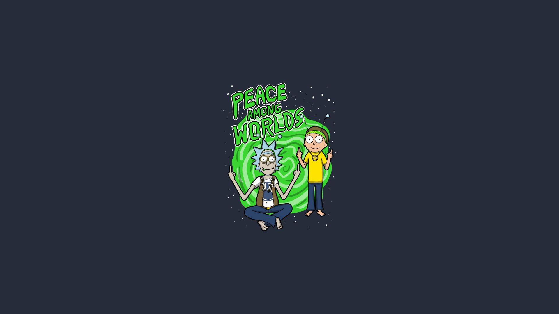 rick and morty android wallpaper, rick and morty background art