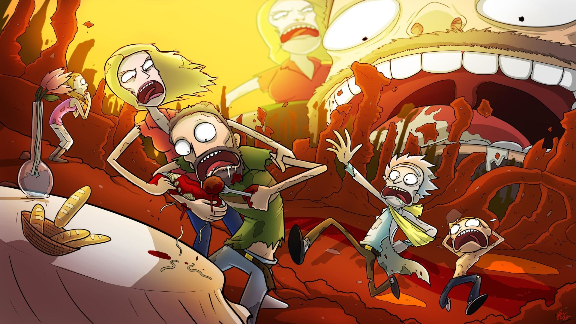 rick and morty walpaper, rick and morty 1920x1080 wallpaper