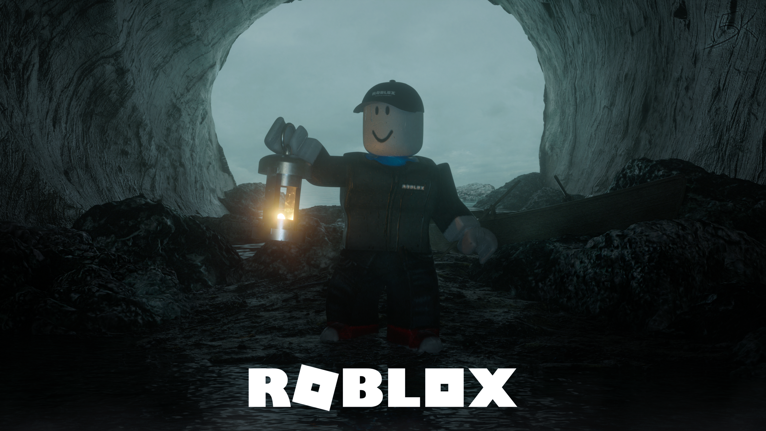 roblox logo black background