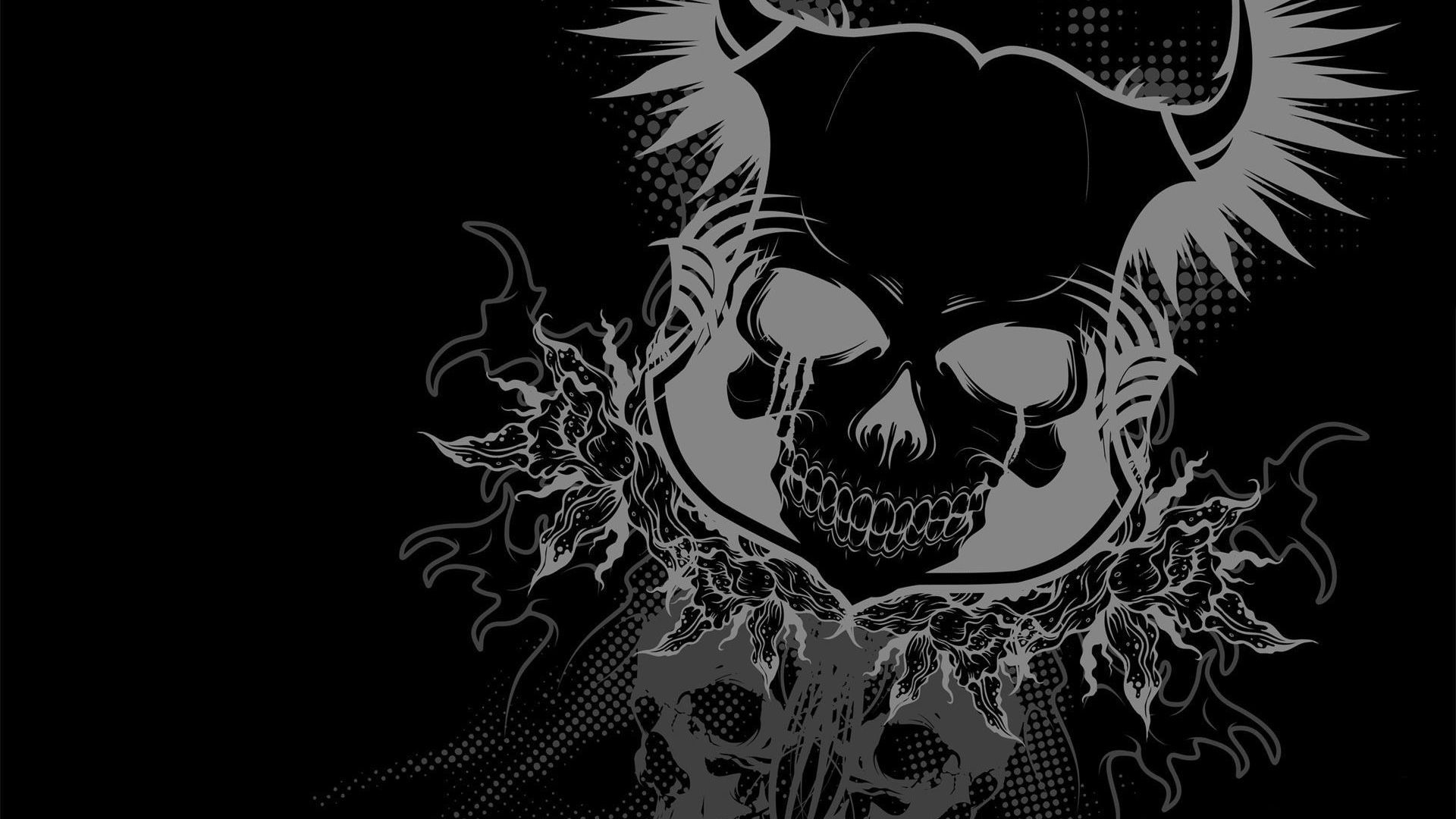 cool skull backgrounds