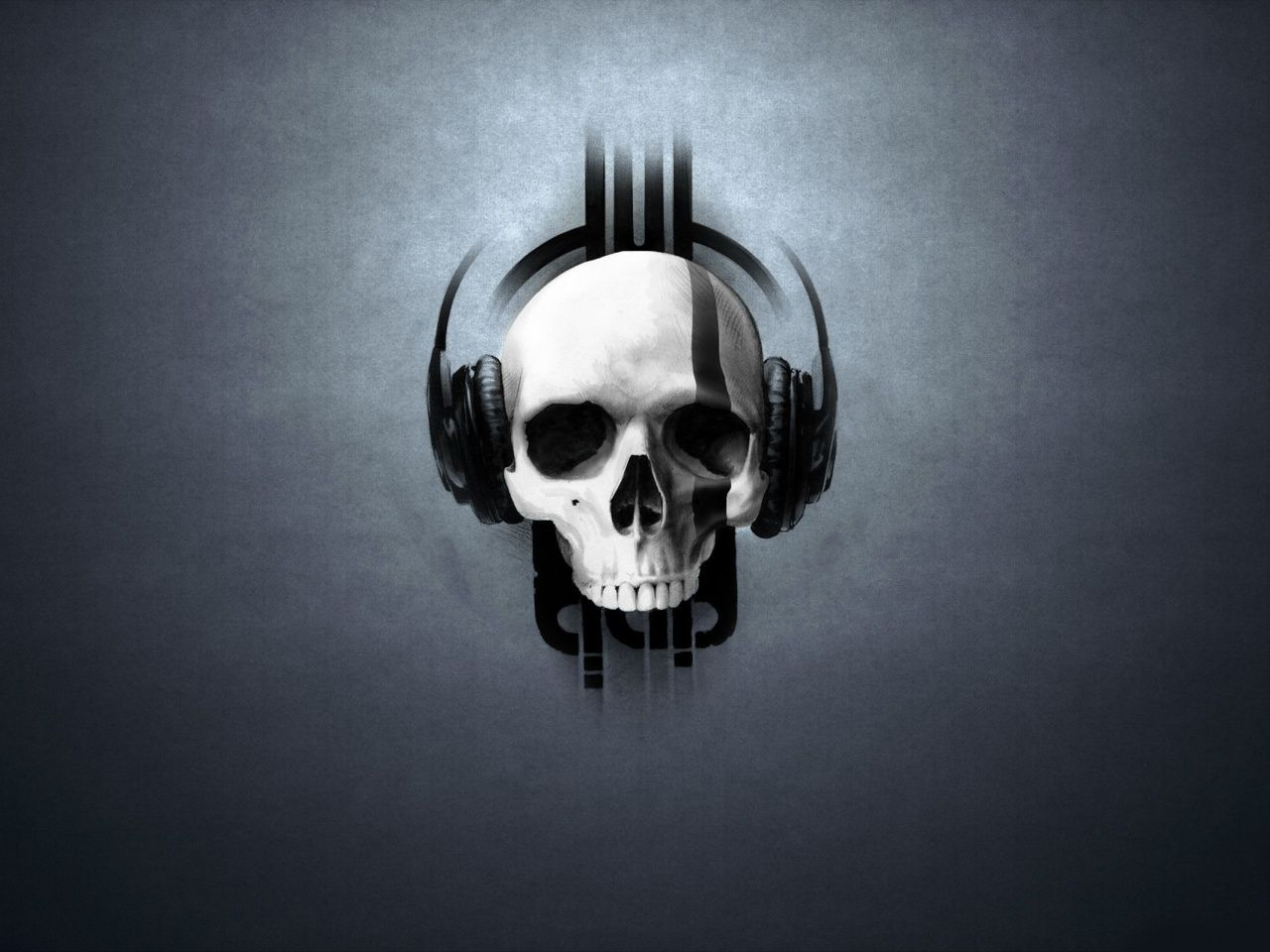 music skull wallpaper