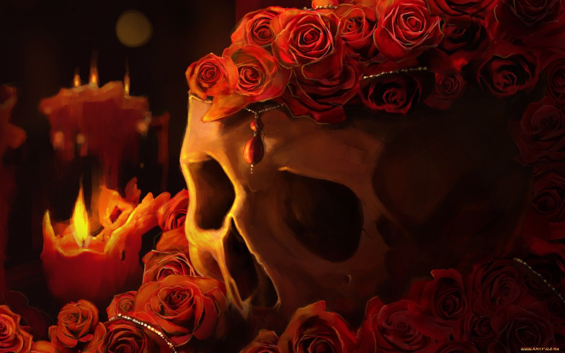 pretty skull wallpapers