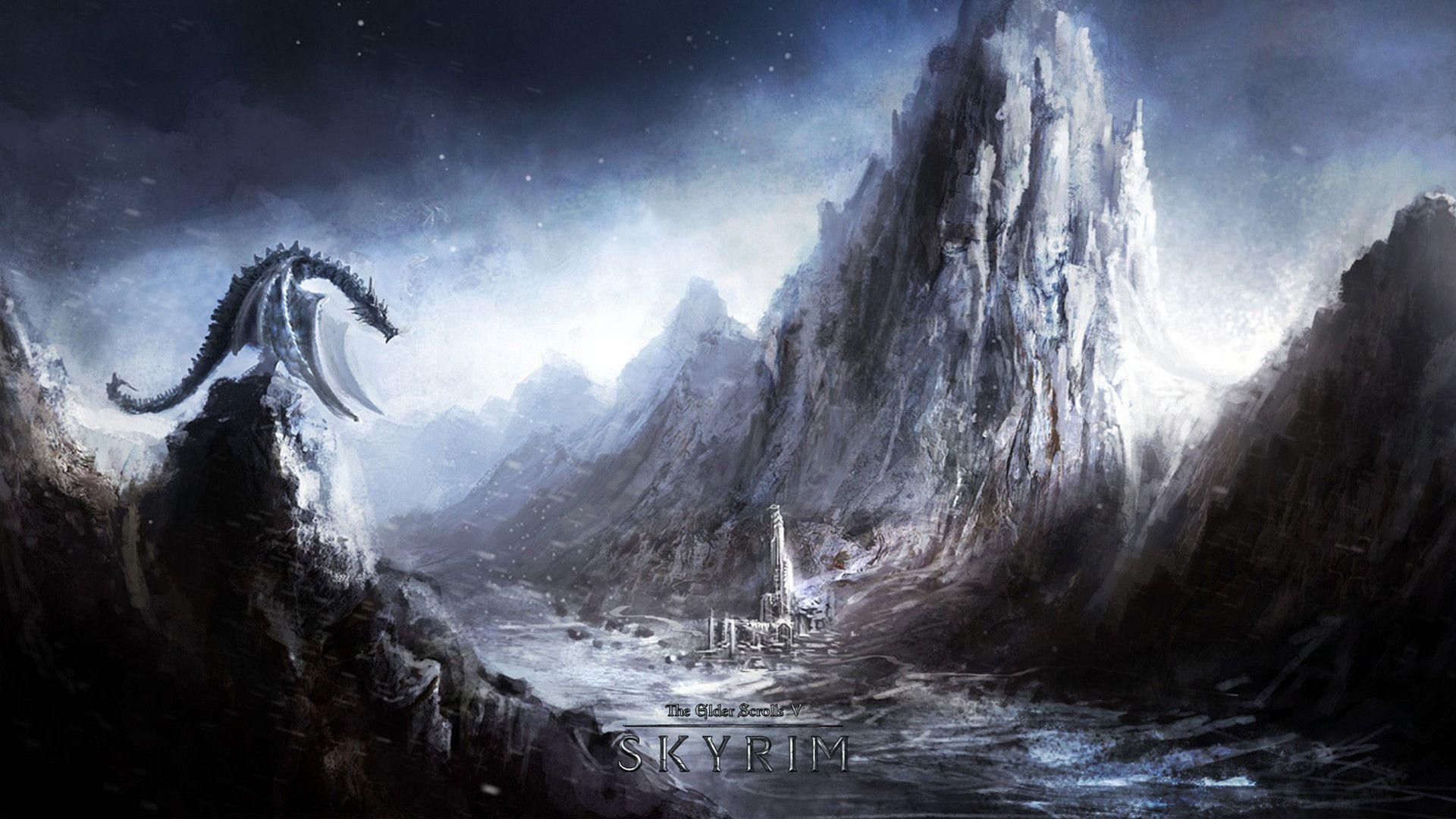 cool skyrim backgrounds, skyrim wallpaper hd 1080p