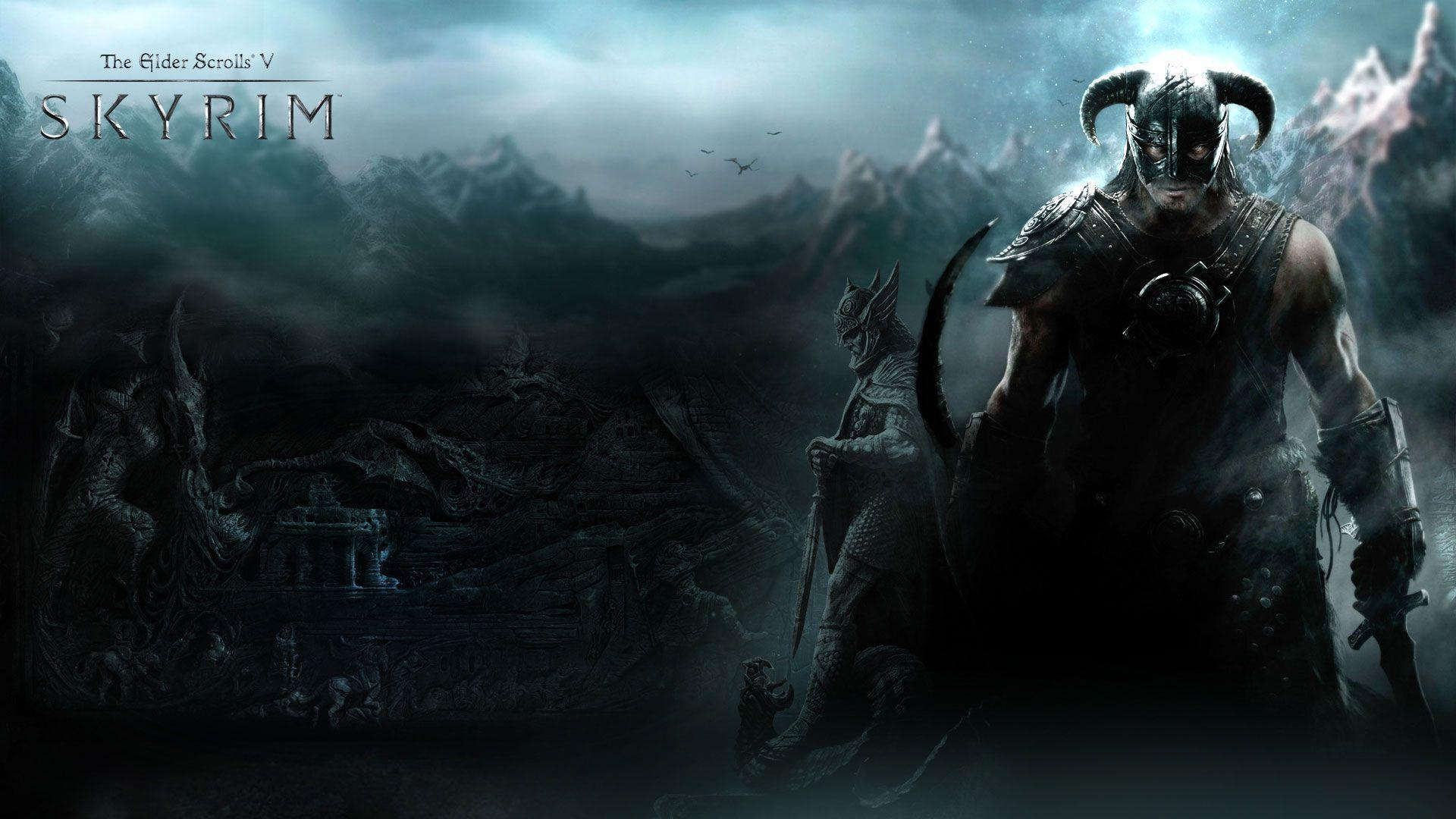dragonborn wallpapers, skyrim wallpaper 1920x1080 hd