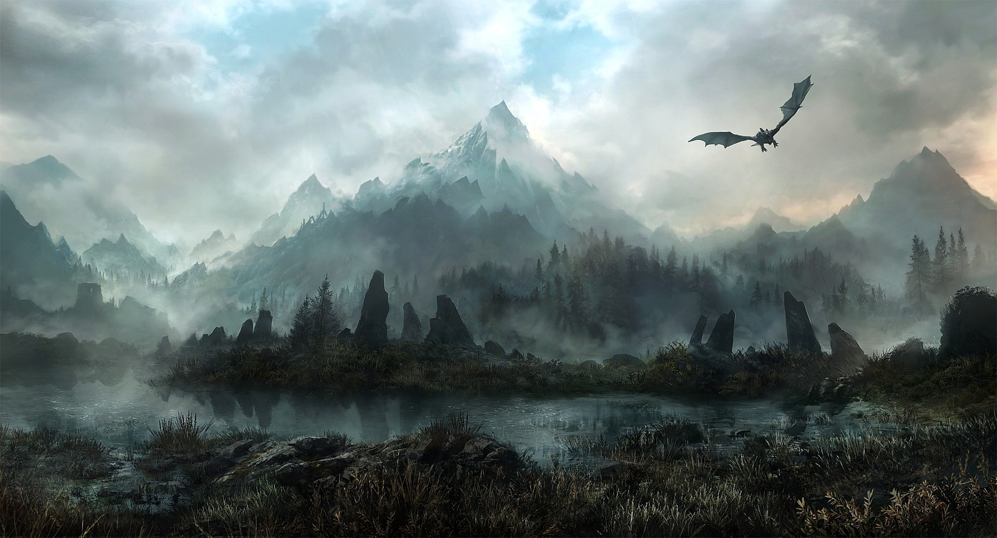 skyrim epic wallpaper, skyrim wallpapers hd
