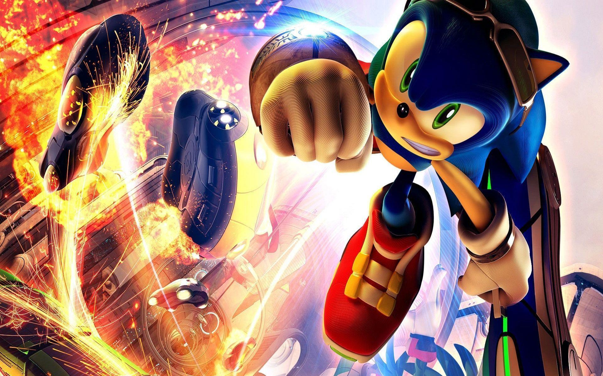 sonic background wallpapers