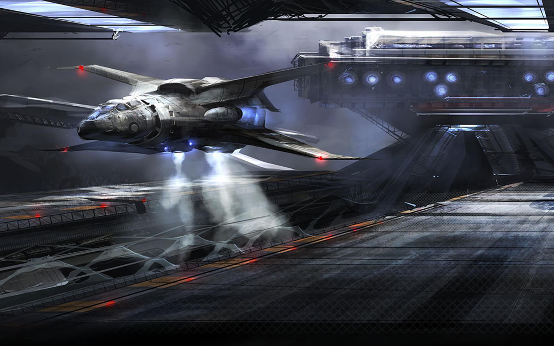 spaceship desktop wallpaper