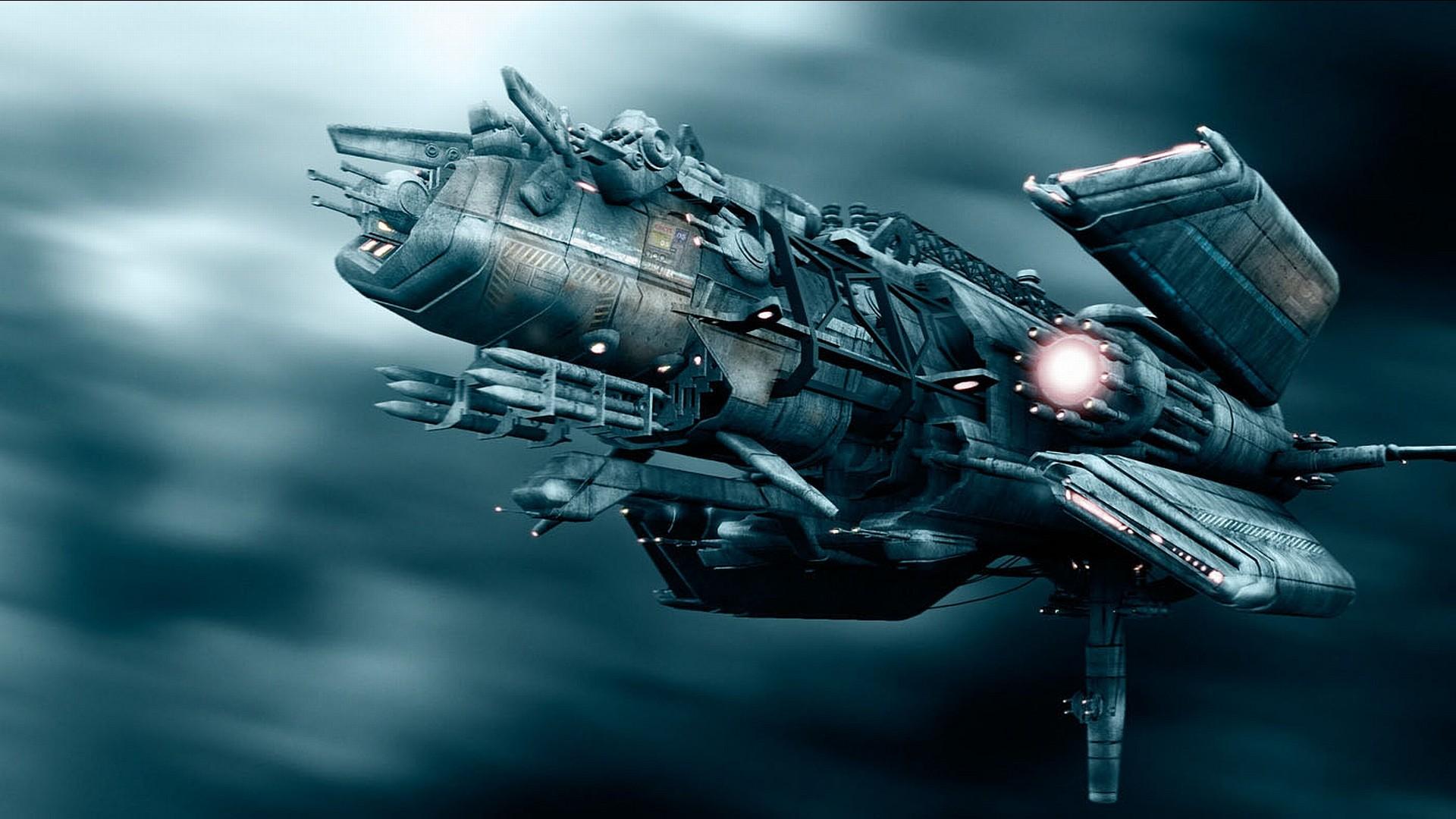 space ship wallpaper