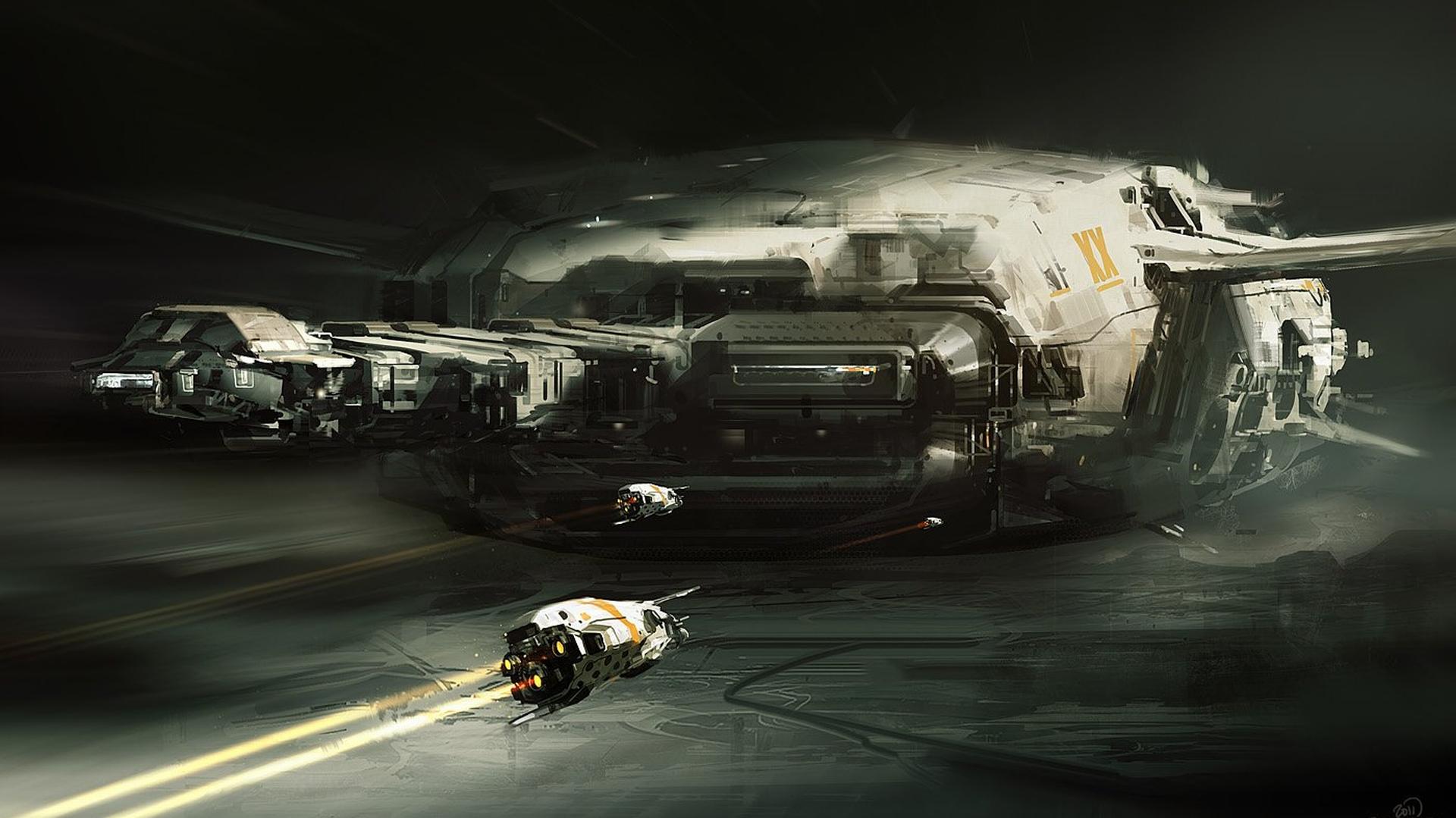 spaceship wallpaper 1920x1080