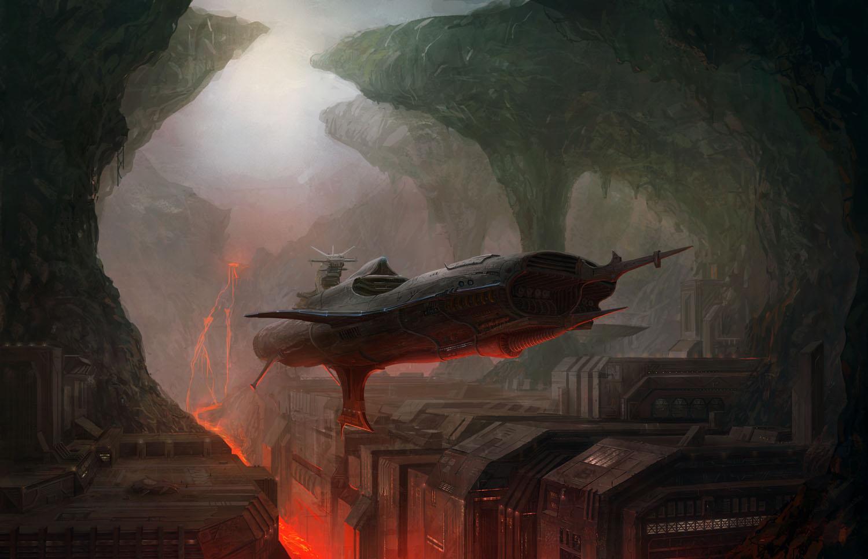 sci fi spaceship wallpapers