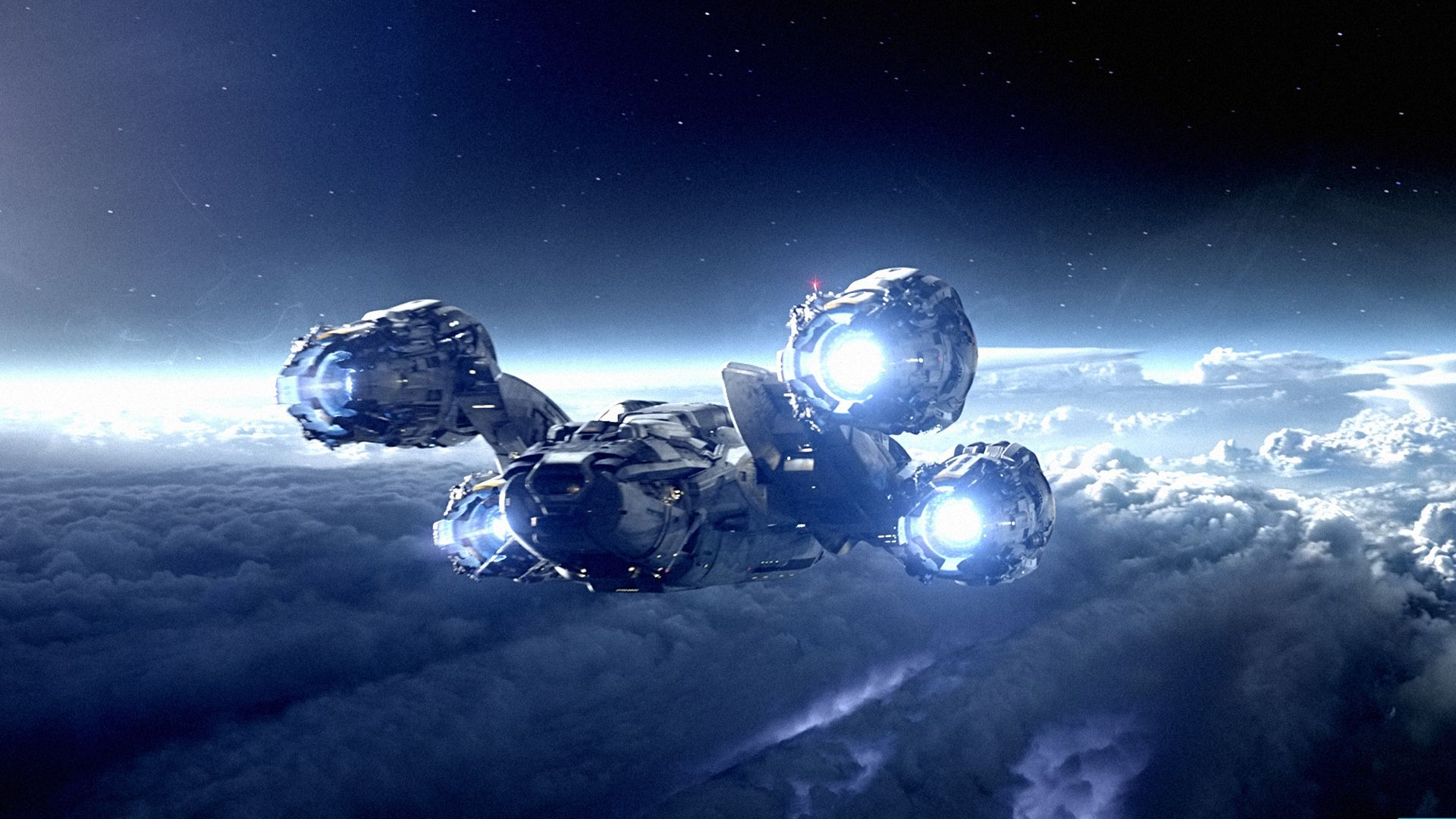 space ship screensaver