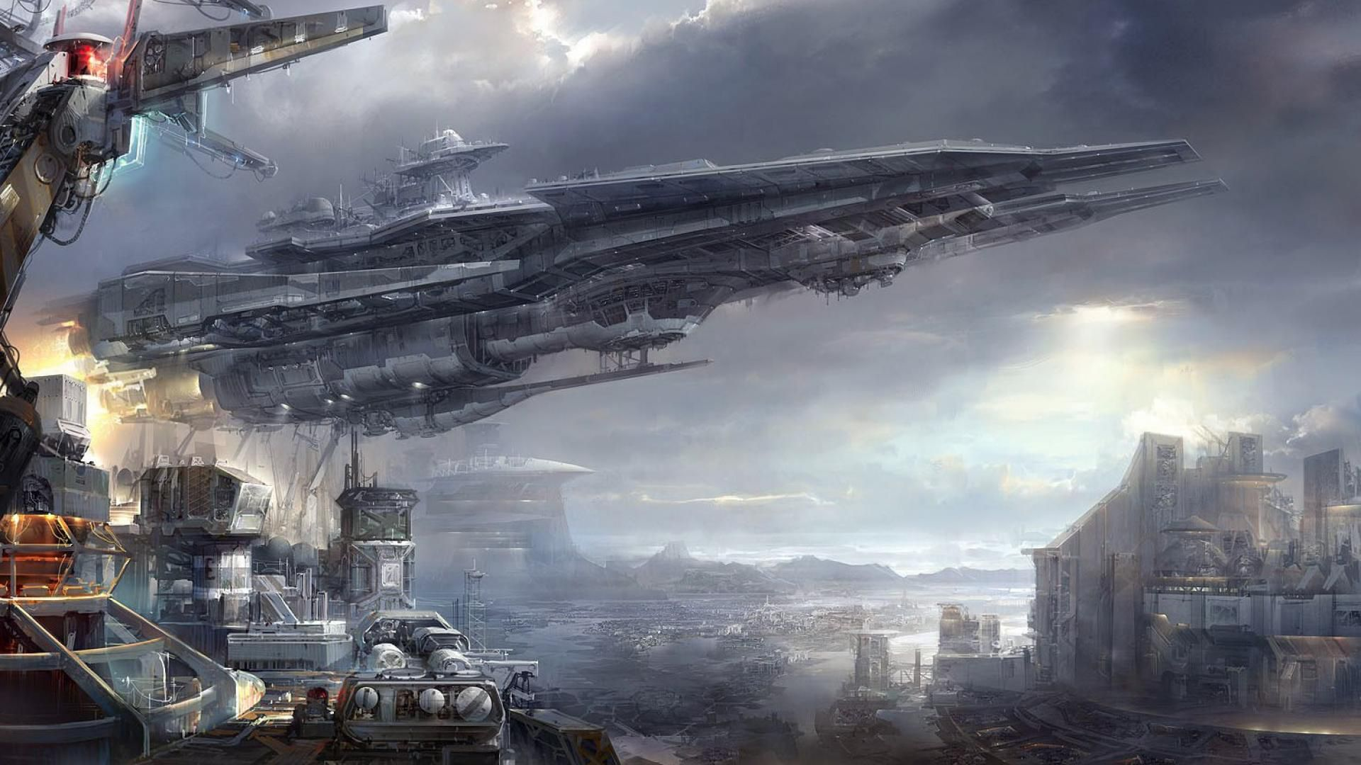 spaceship screensaver wallpapers