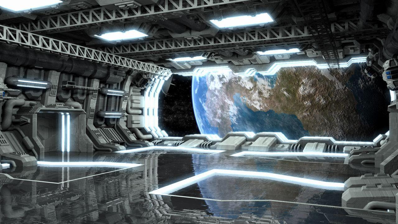 inside spaceship wallpaper