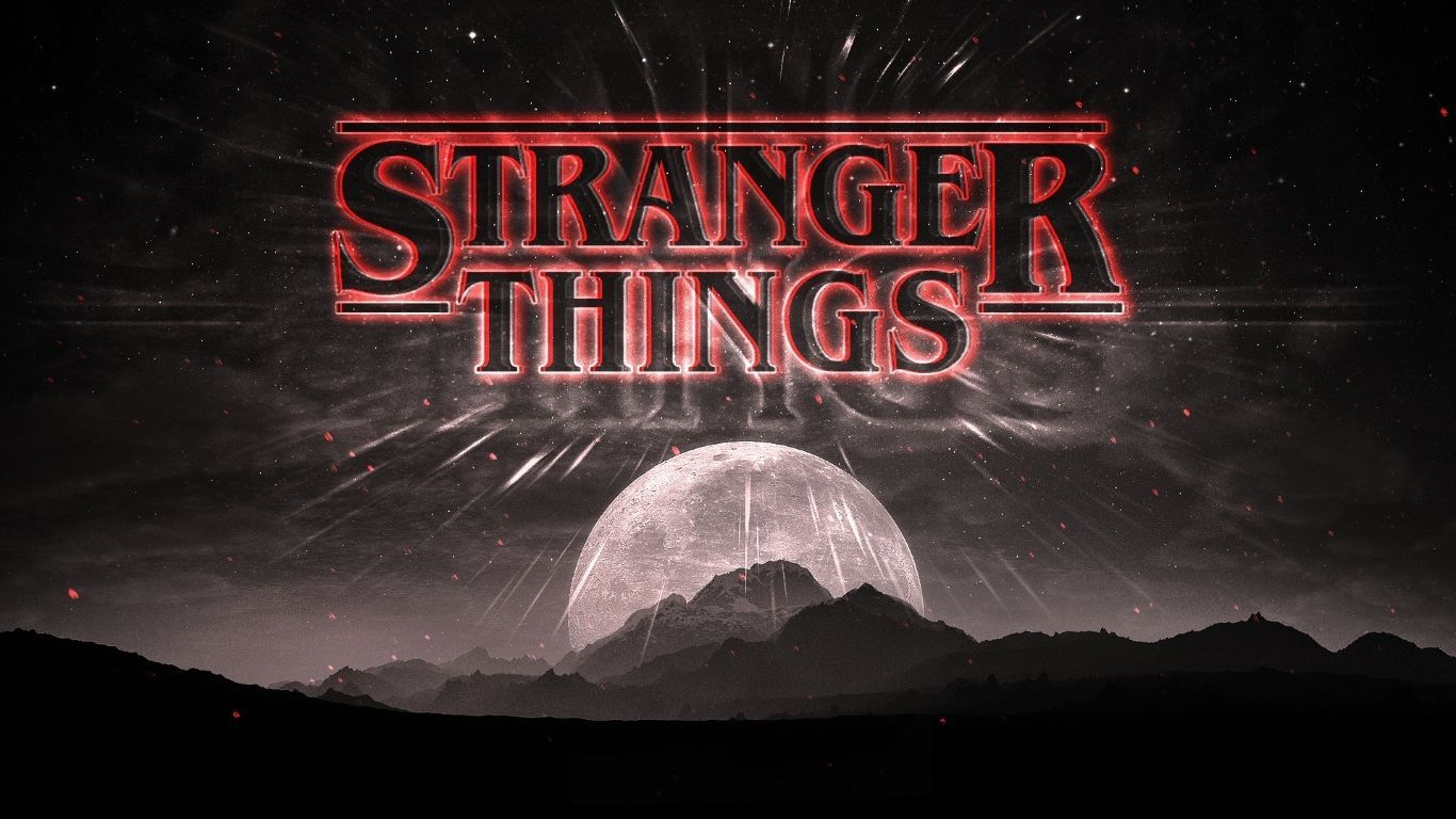 stranger things wallpaper lights