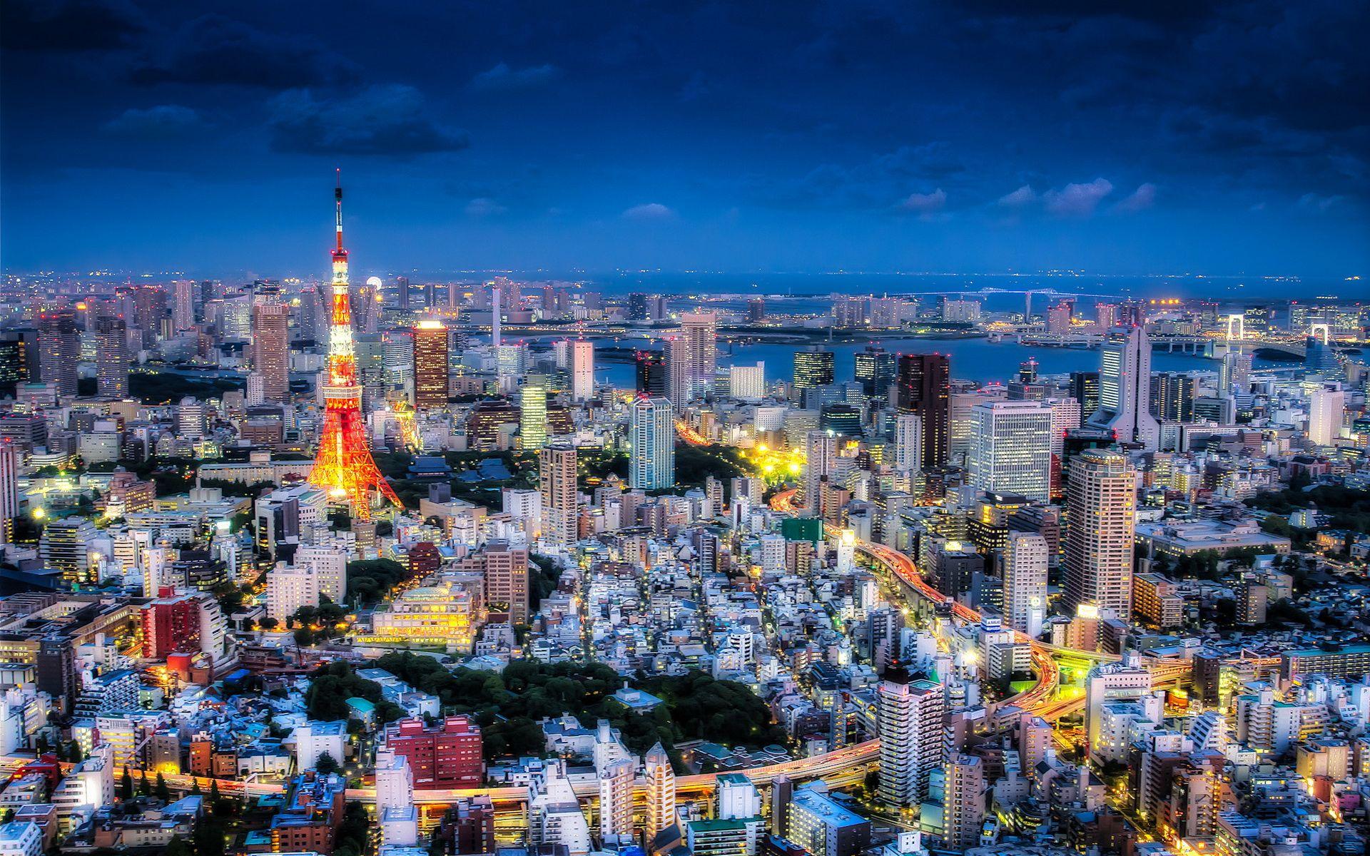 japanese city wallpaper