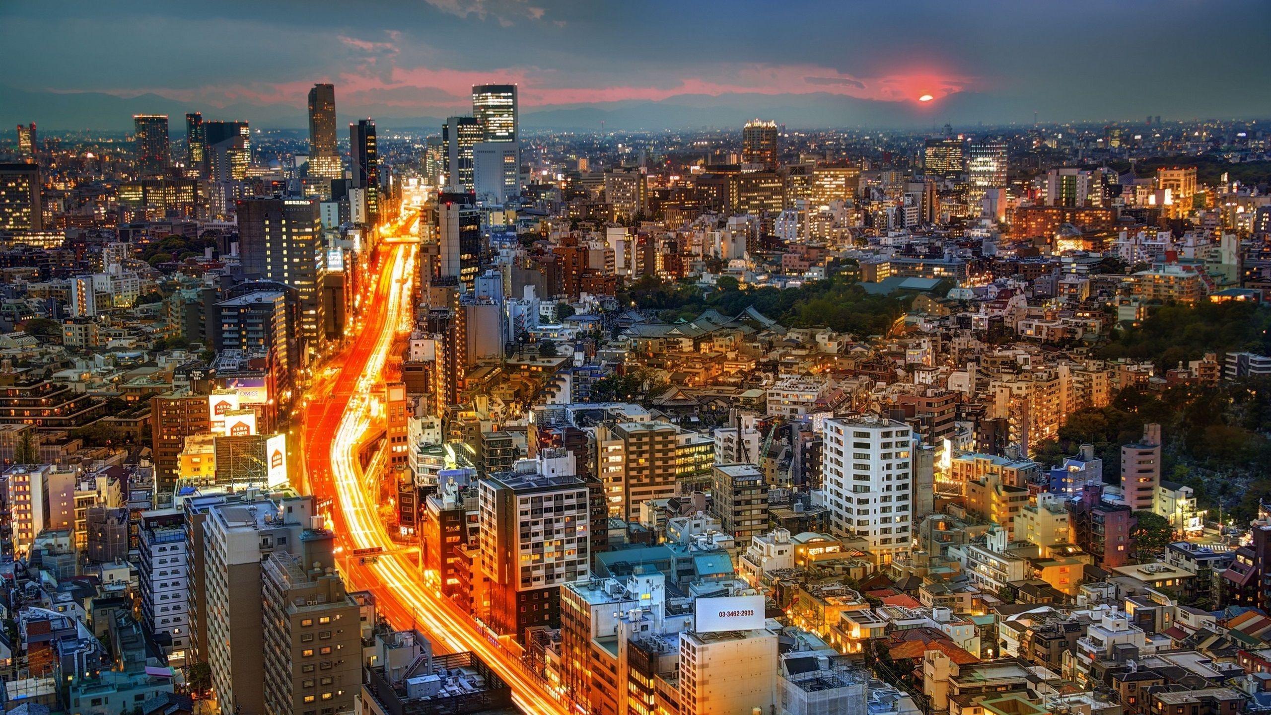 japan city night wallpapers