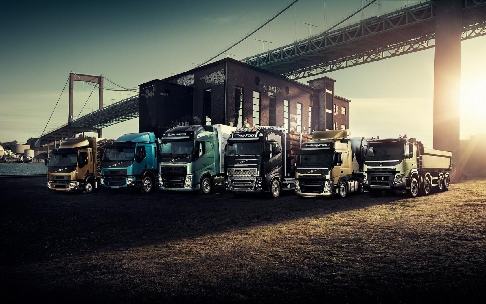 truck on road wallpapers