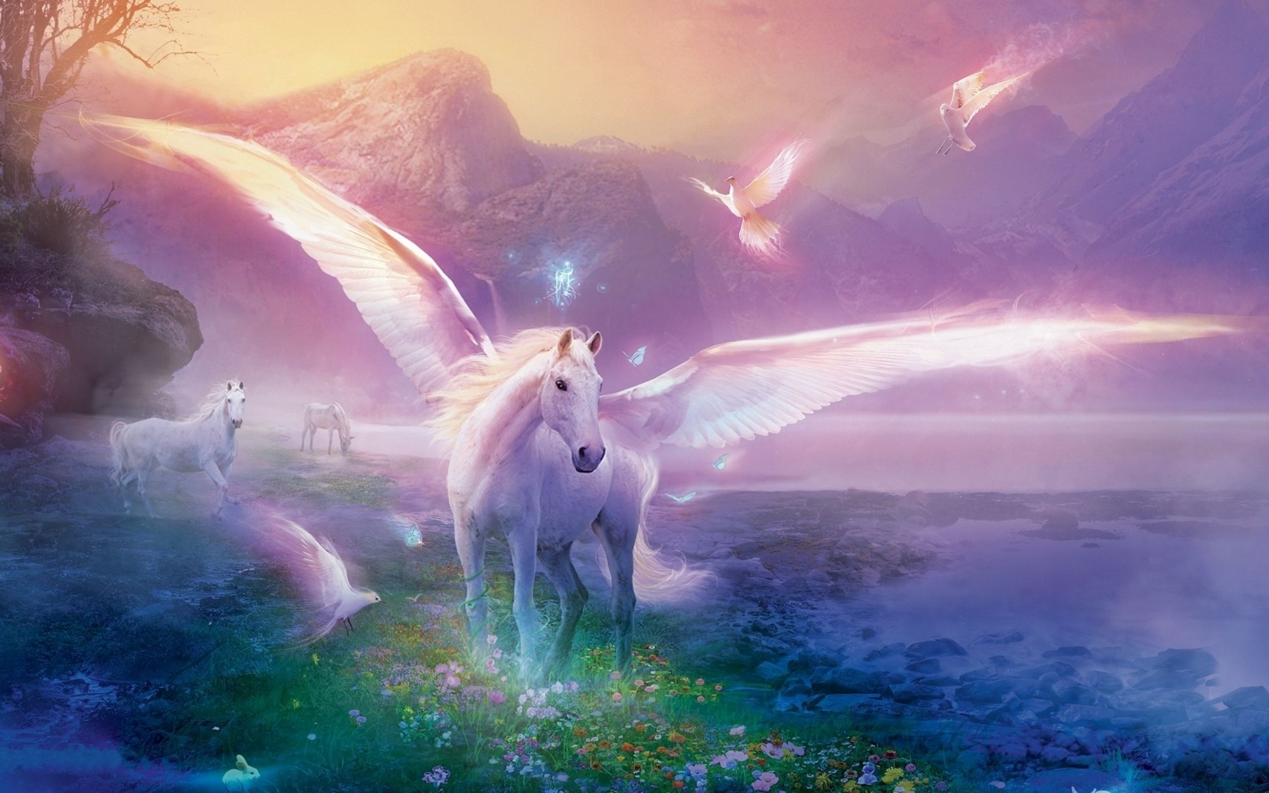wallpaper of unicorns